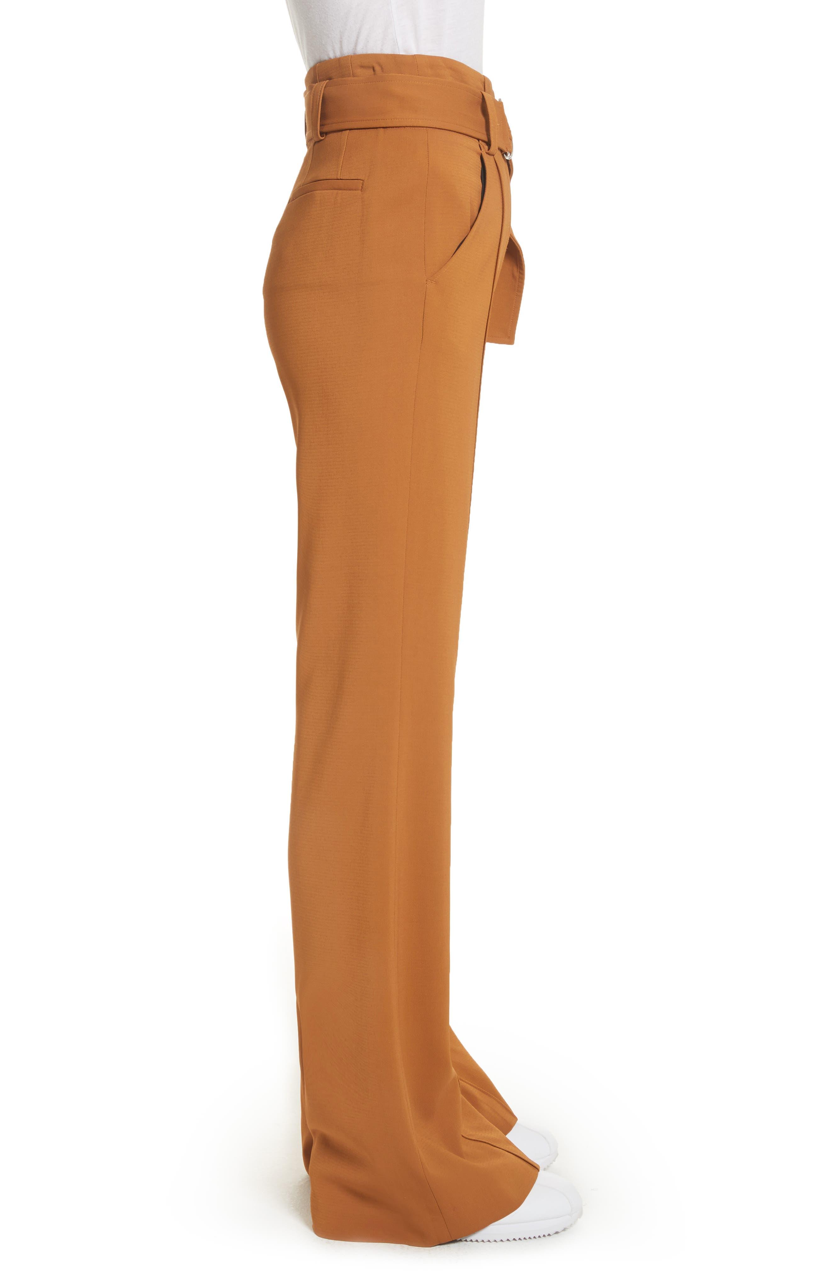 Foster Flare Leg Crepe Pants,                             Alternate thumbnail 3, color,