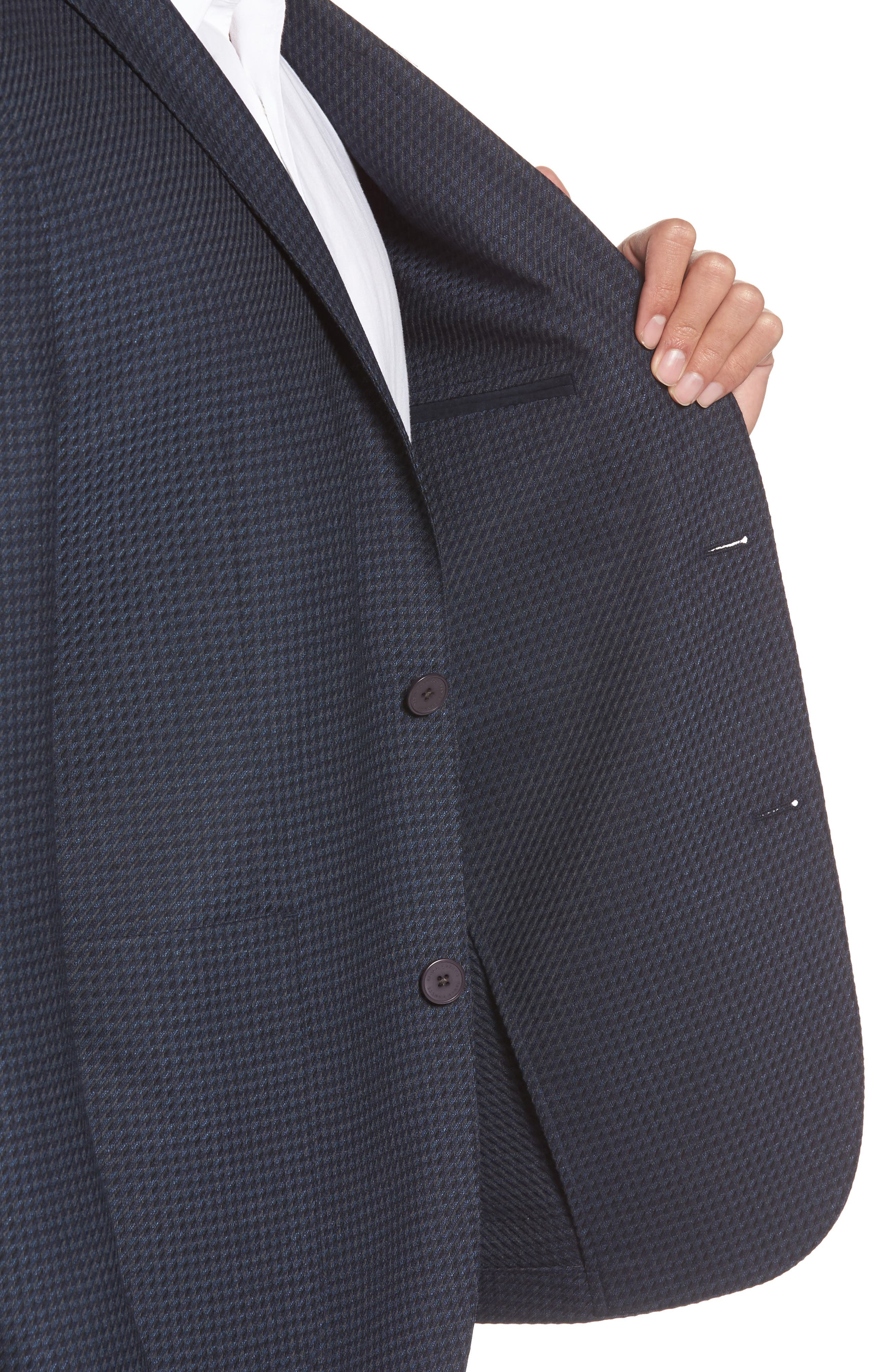 Digital Houndstooth Wool Blend Sport Coat,                             Alternate thumbnail 4, color,                             410