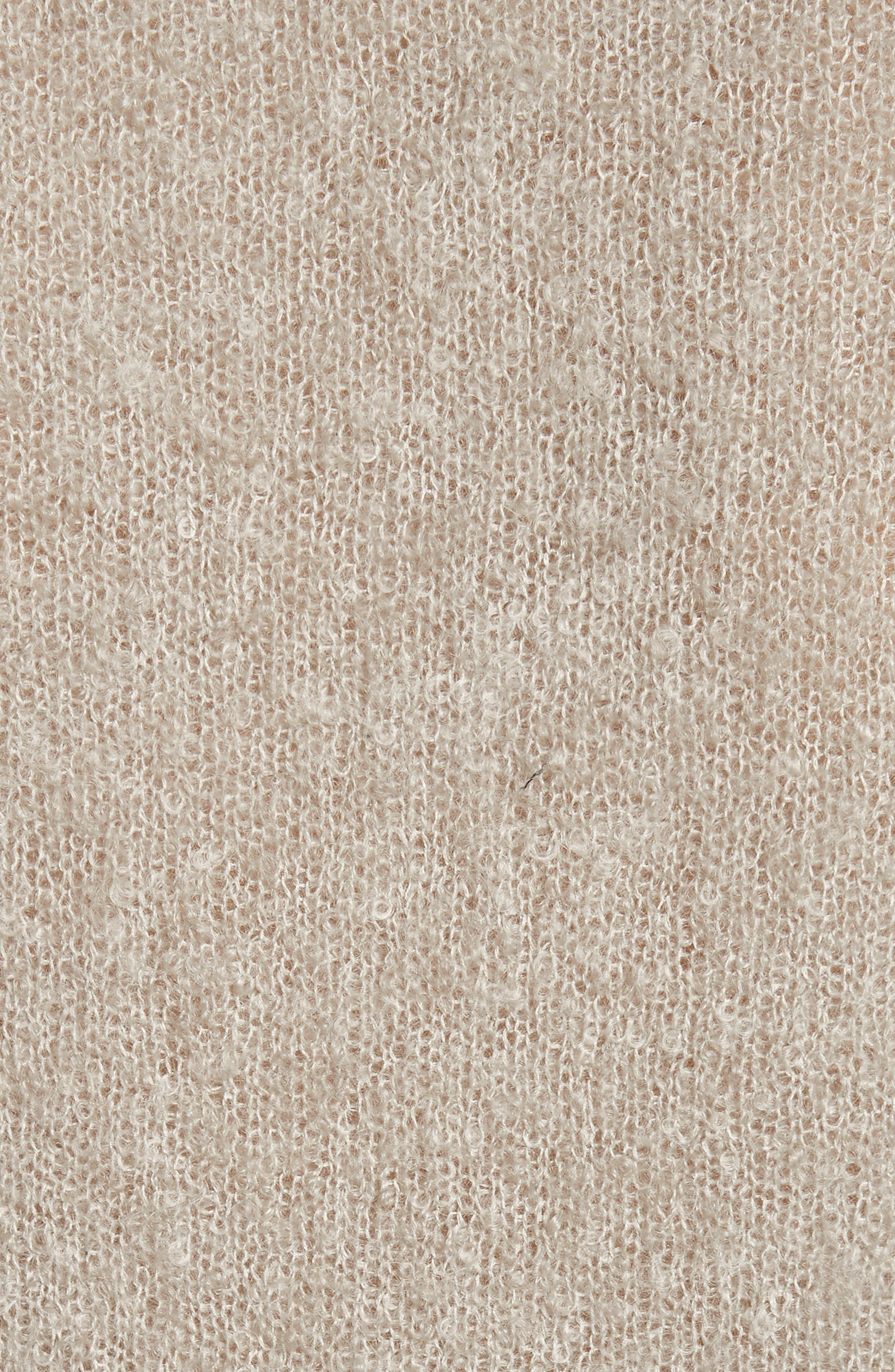 Tatum Mohair & Silk Sweater,                             Alternate thumbnail 5, color,                             020