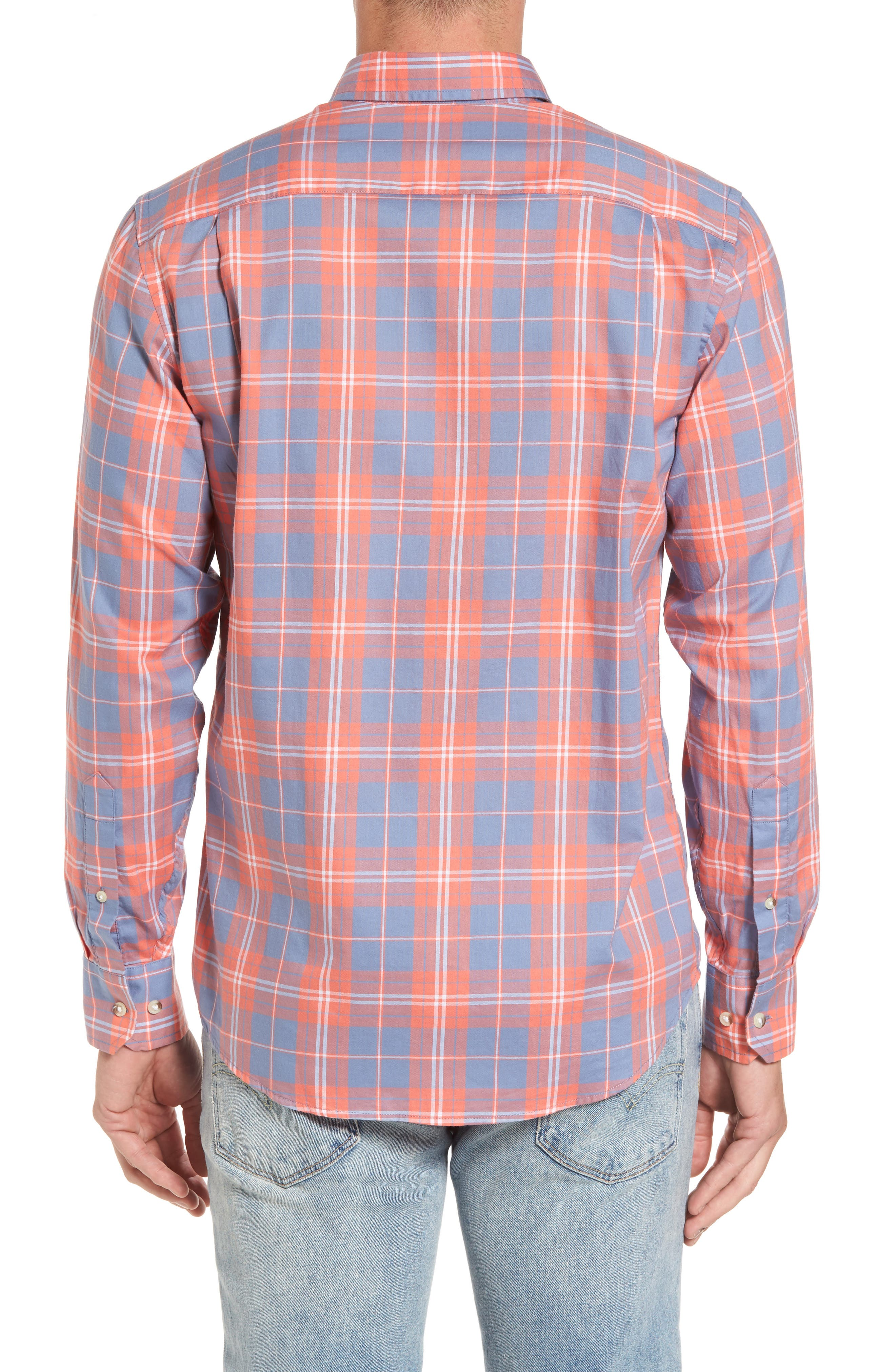 Charleston Station Slim Fit Plaid Sport Shirt,                             Alternate thumbnail 2, color,