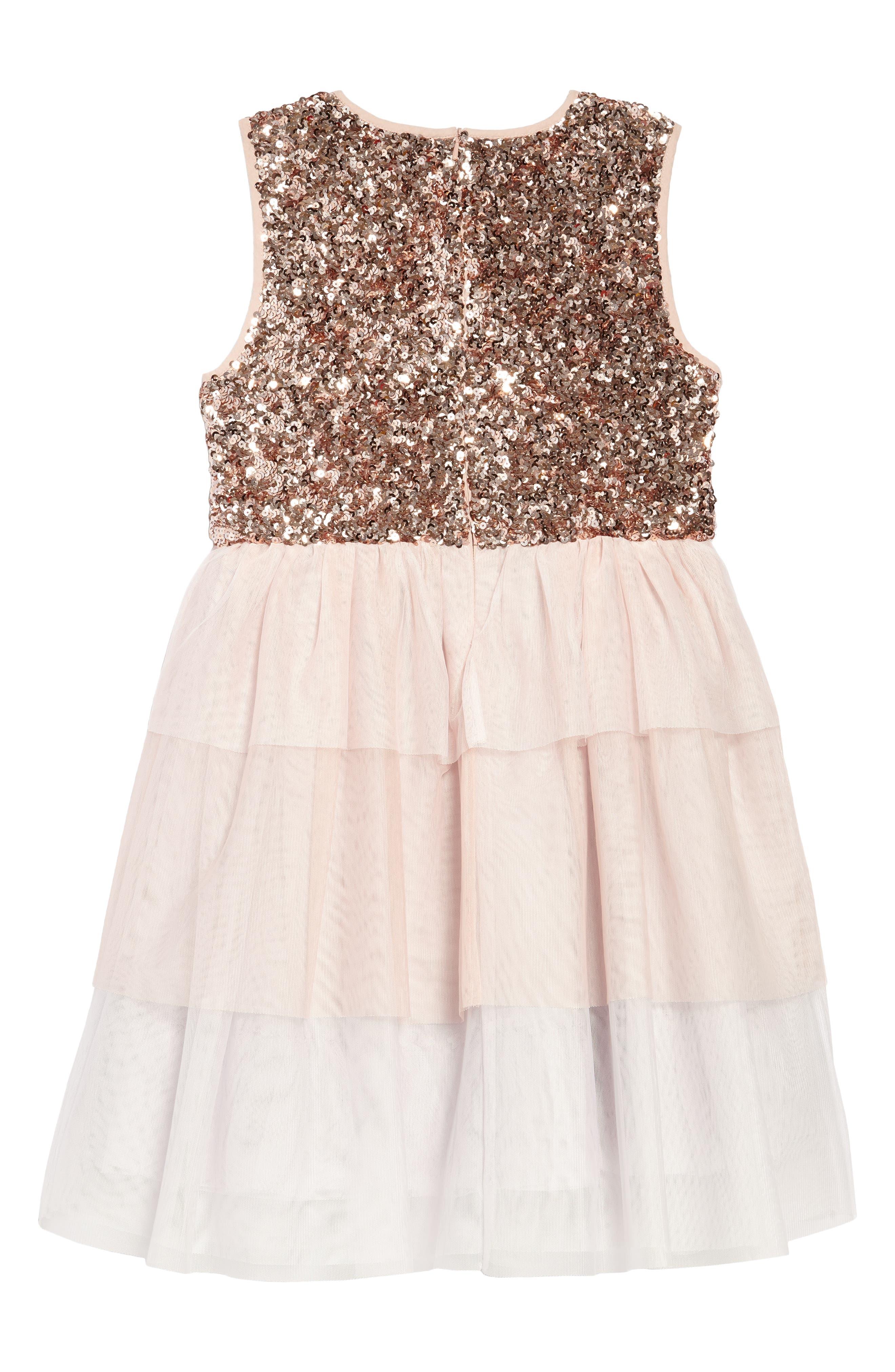 Sequin Tiered Tutu Dress,                             Alternate thumbnail 2, color,                             684