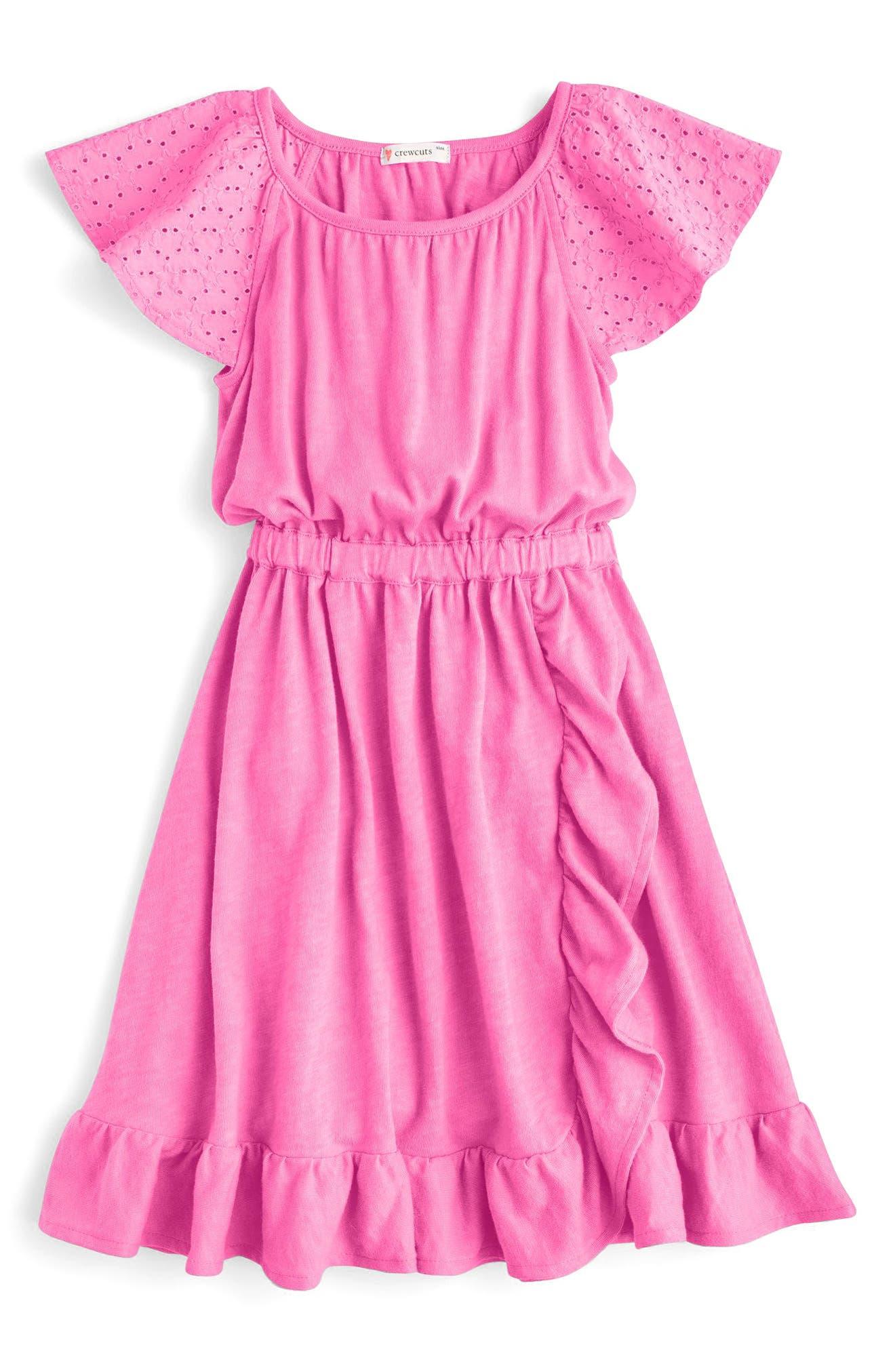Sorelle Eyelet Ruffle Dress,                             Main thumbnail 3, color,