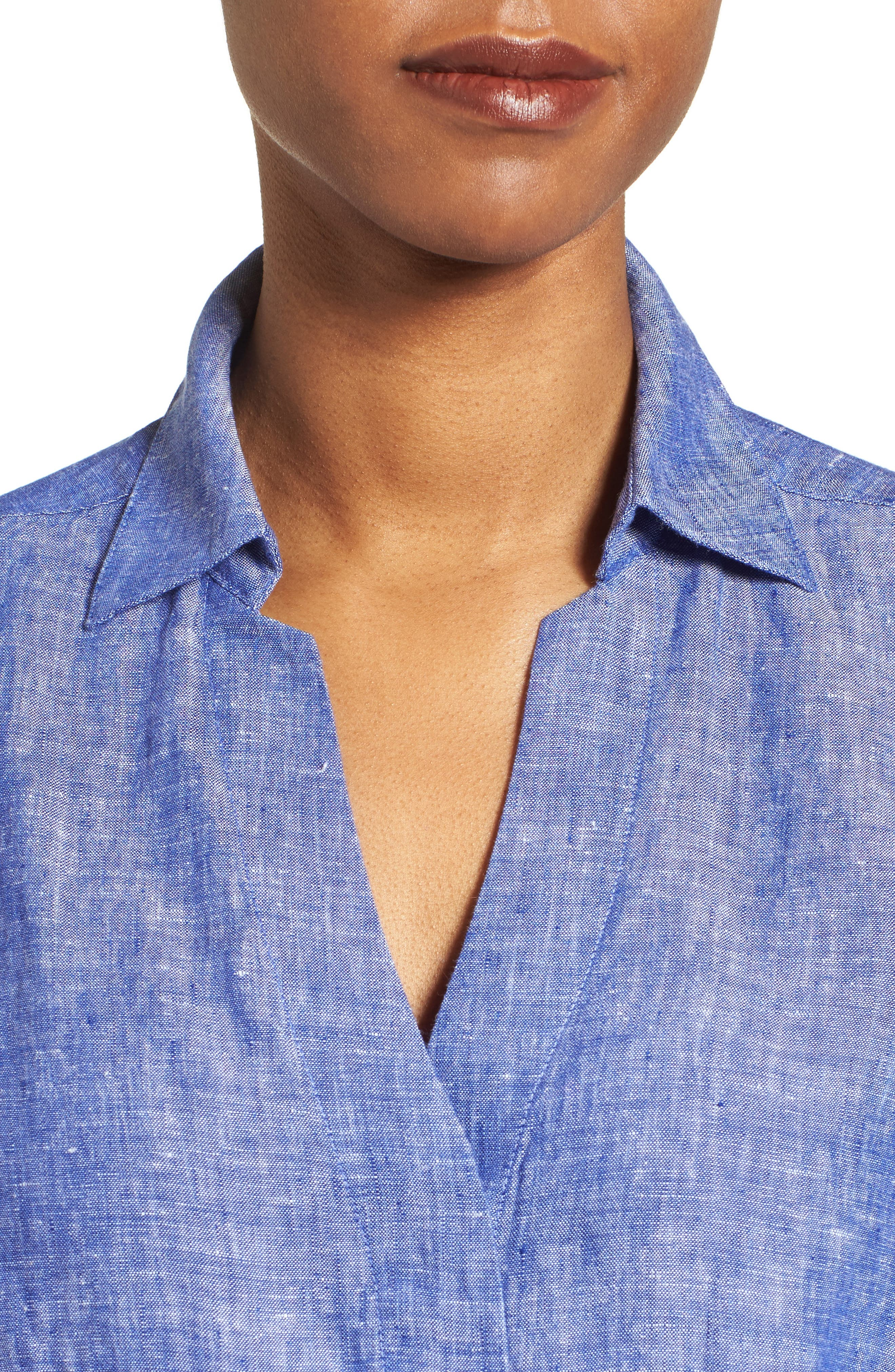 Linen Chambray Shirt,                             Alternate thumbnail 27, color,