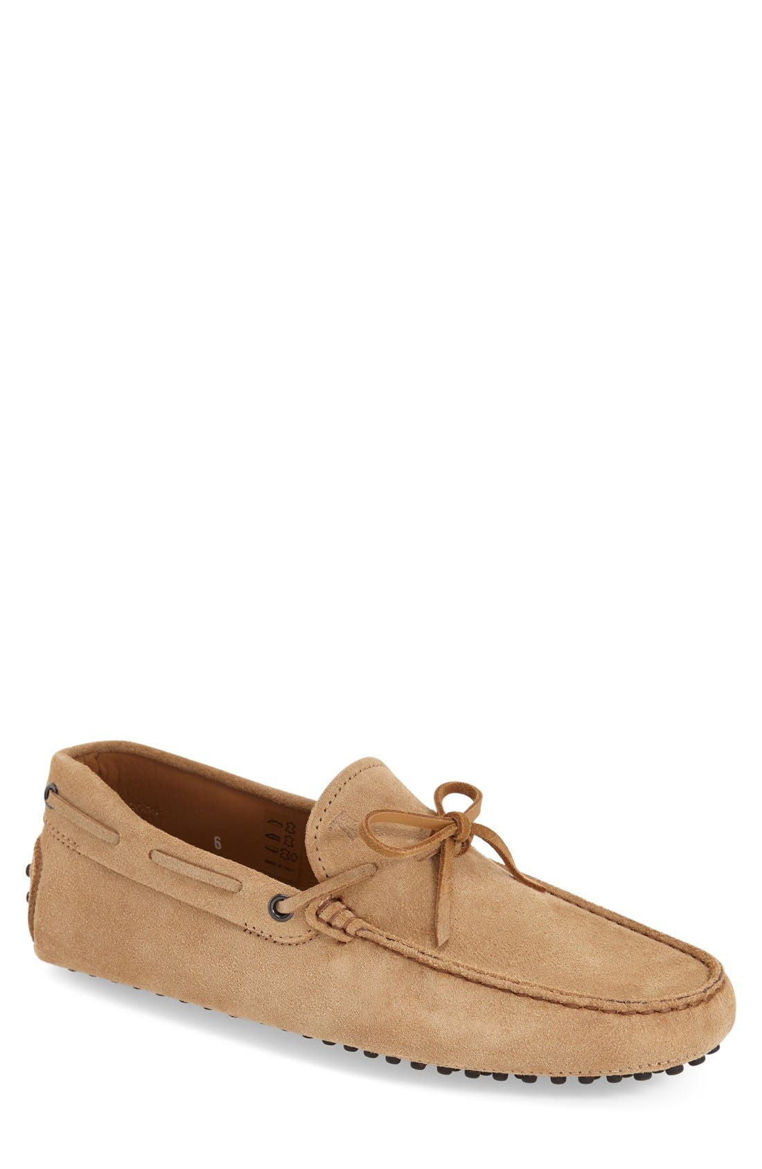 Gommini Tie Front Driving Moccasin,                             Main thumbnail 7, color,