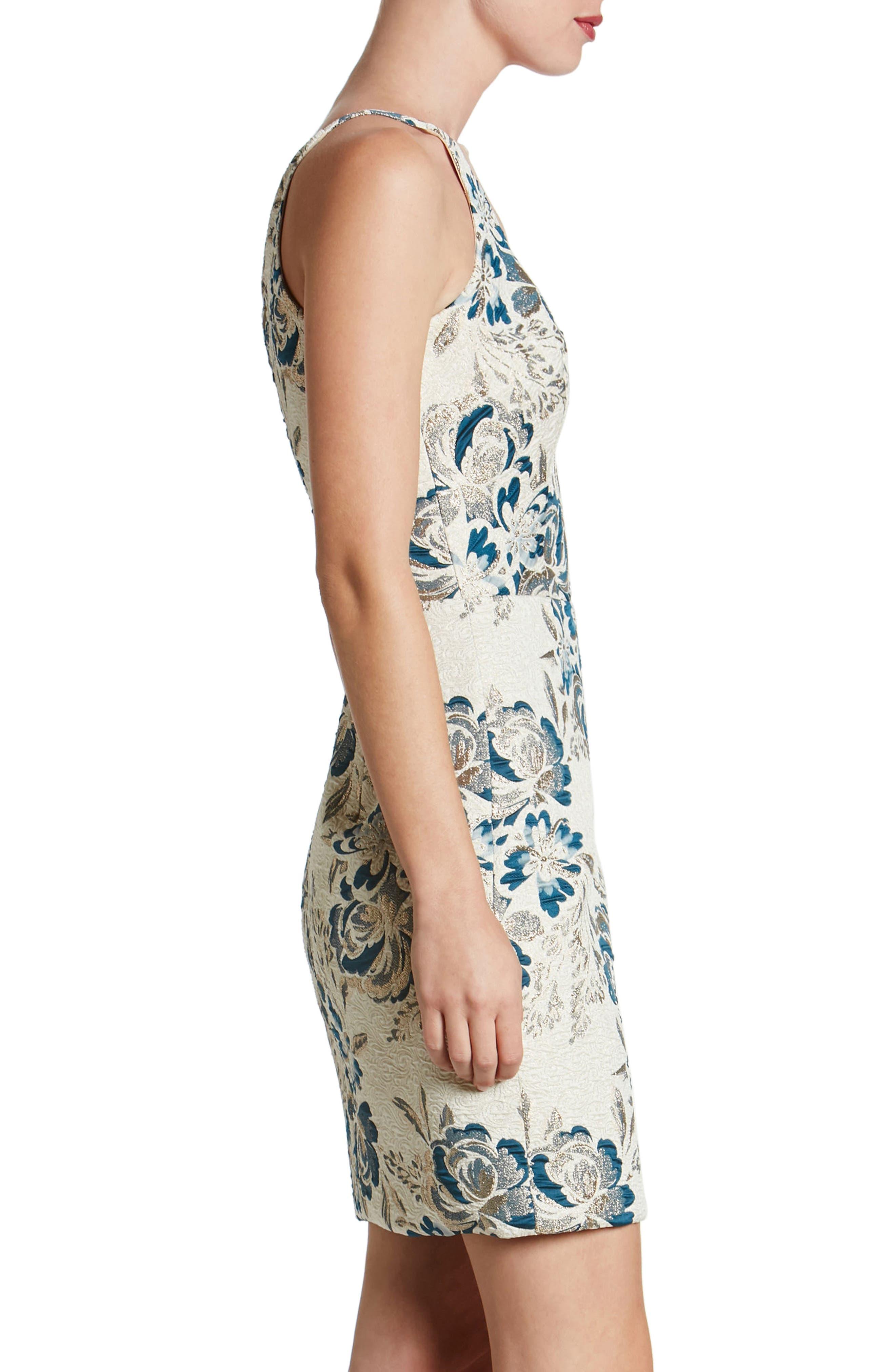 Kennedy Mesh Plunge Sheath Dress,                             Alternate thumbnail 3, color,                             426
