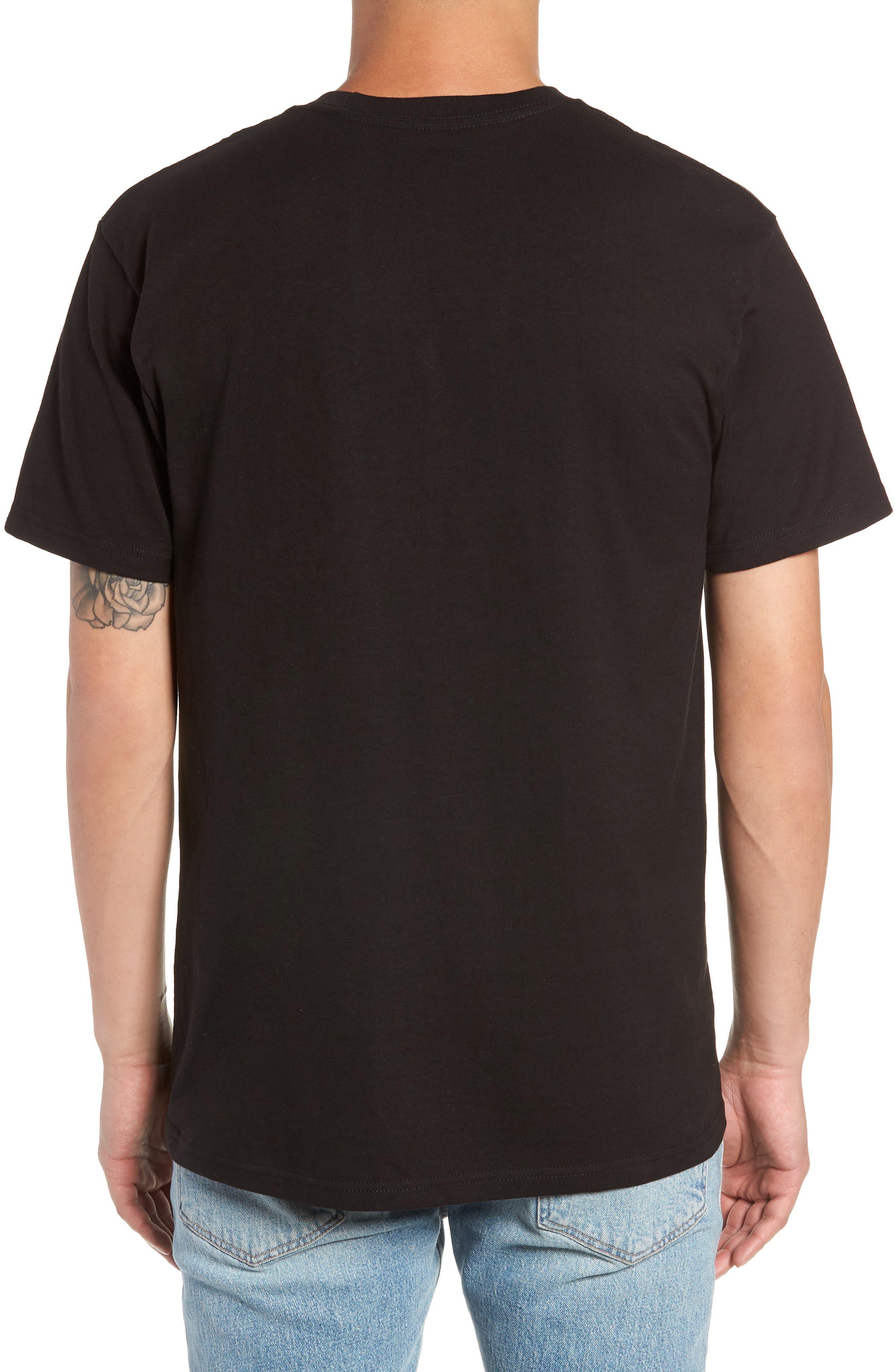 Classic Logo T-Shirt,                             Alternate thumbnail 2, color,                             BLACK/ WHITE