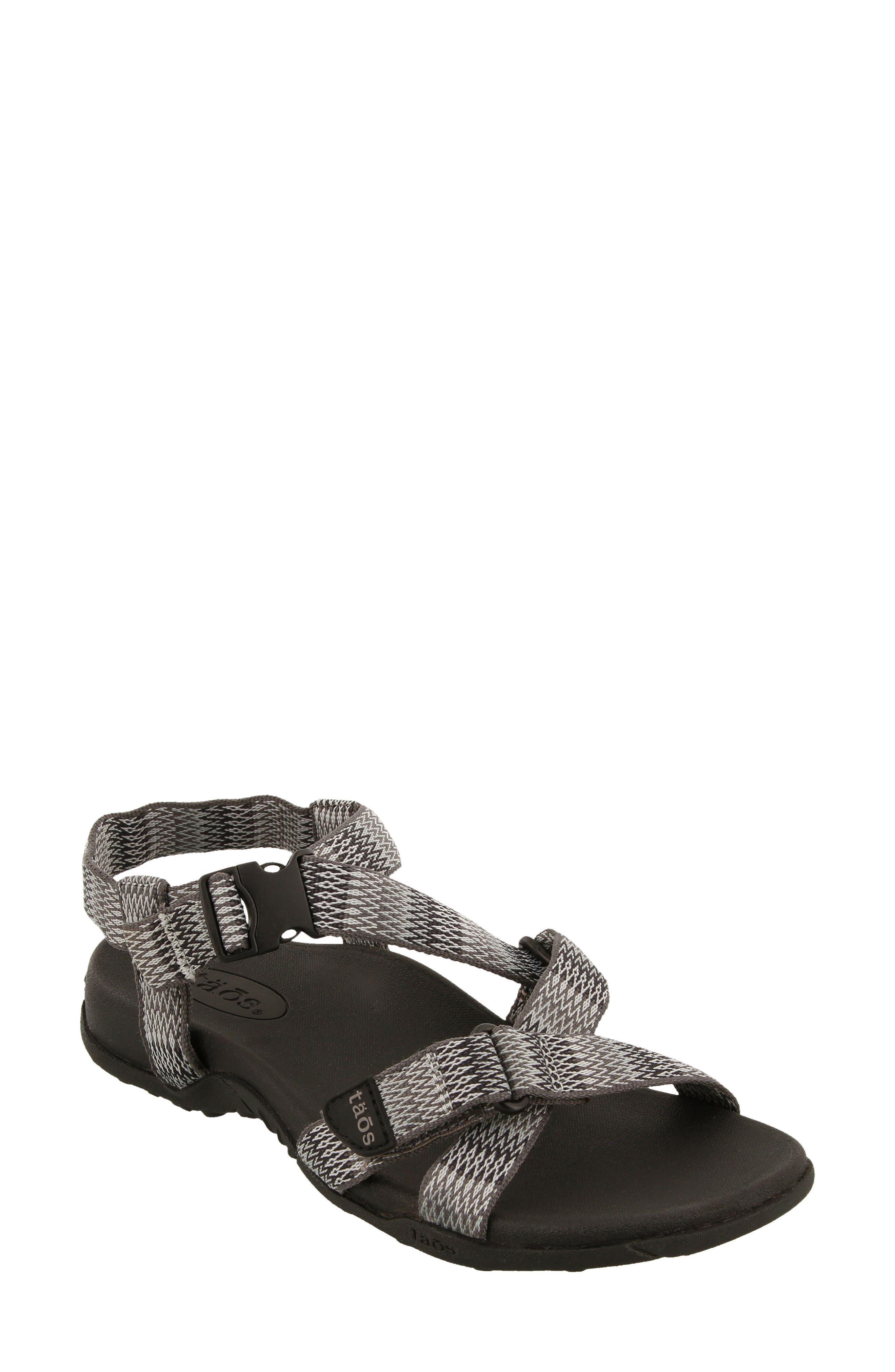 New Wave Sandal,                         Main,                         color, BLACK FABRIC