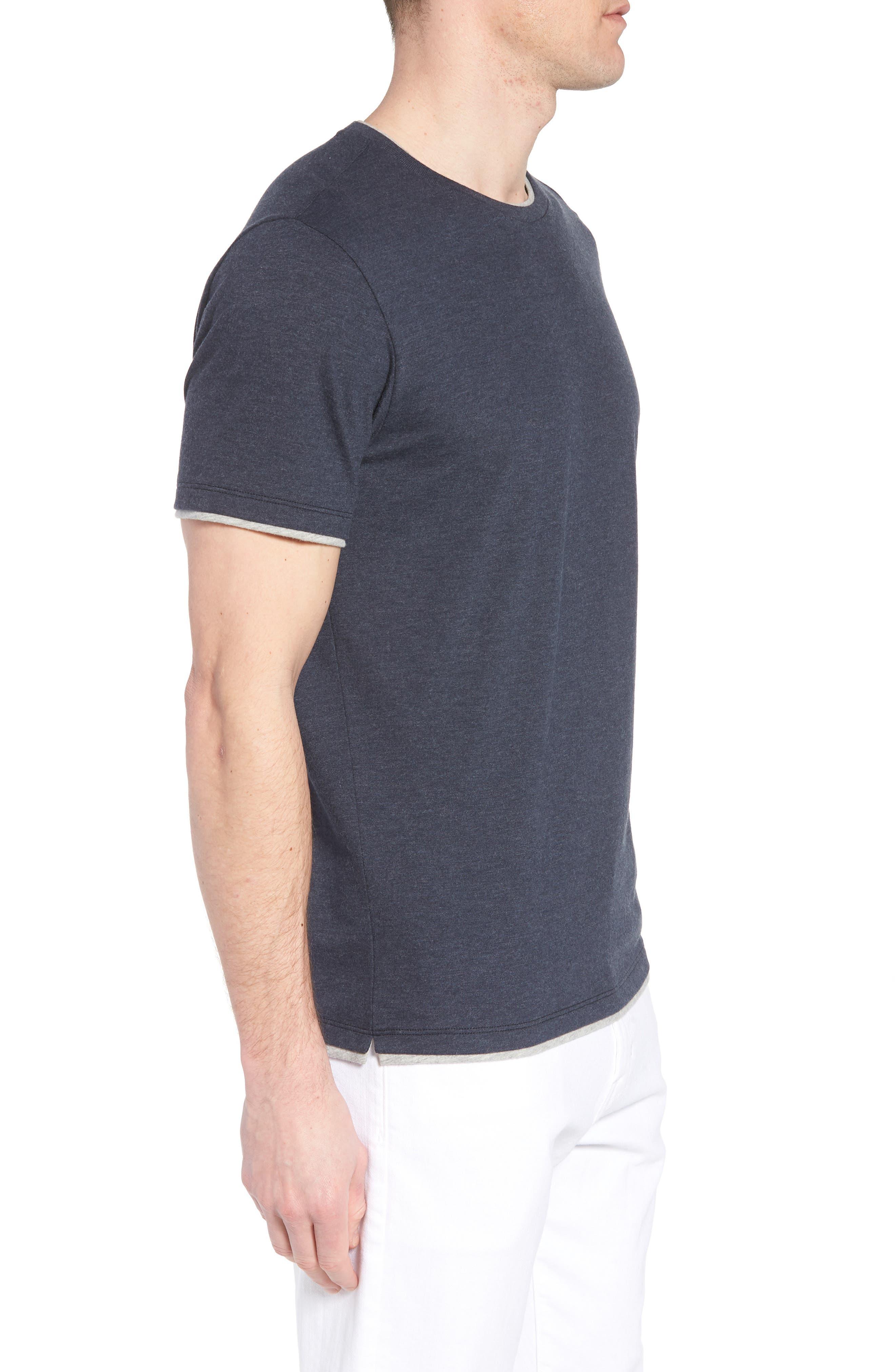 Halifax Crewneck T-Shirt,                             Alternate thumbnail 3, color,                             NAVY