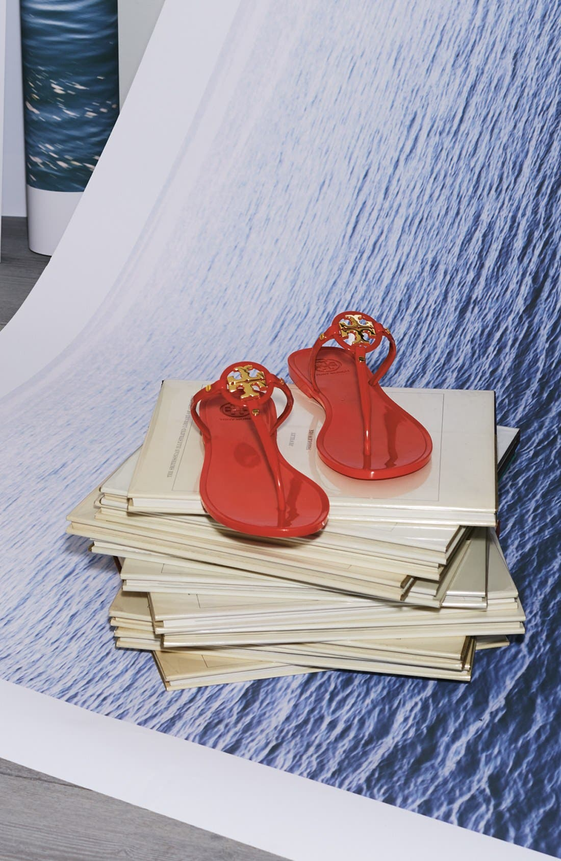 'Mini Miller' Flat Sandal,                             Alternate thumbnail 5, color,                             900