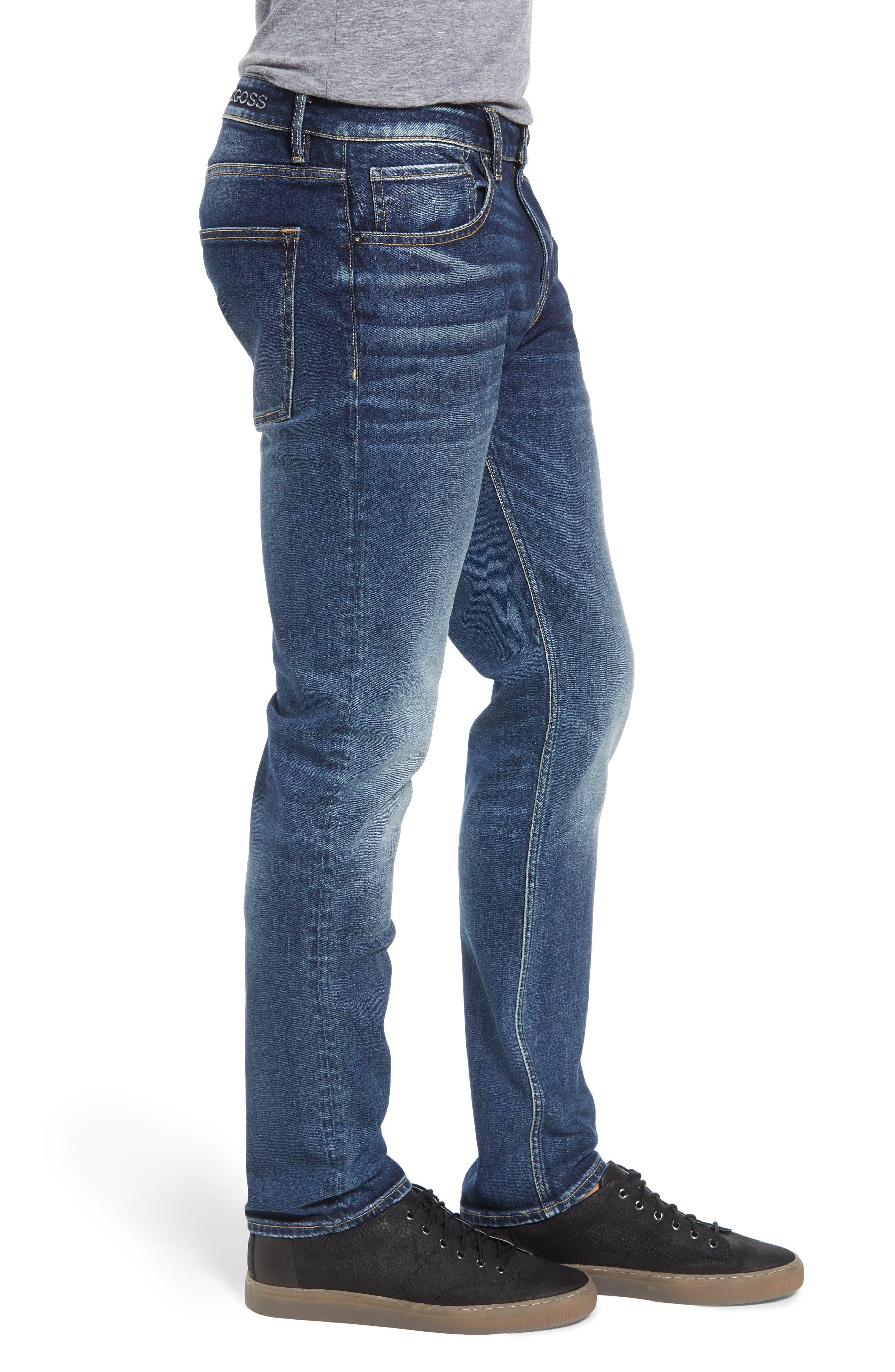 Slim Fit Jeans,                             Alternate thumbnail 3, color,                             PURE BLUE