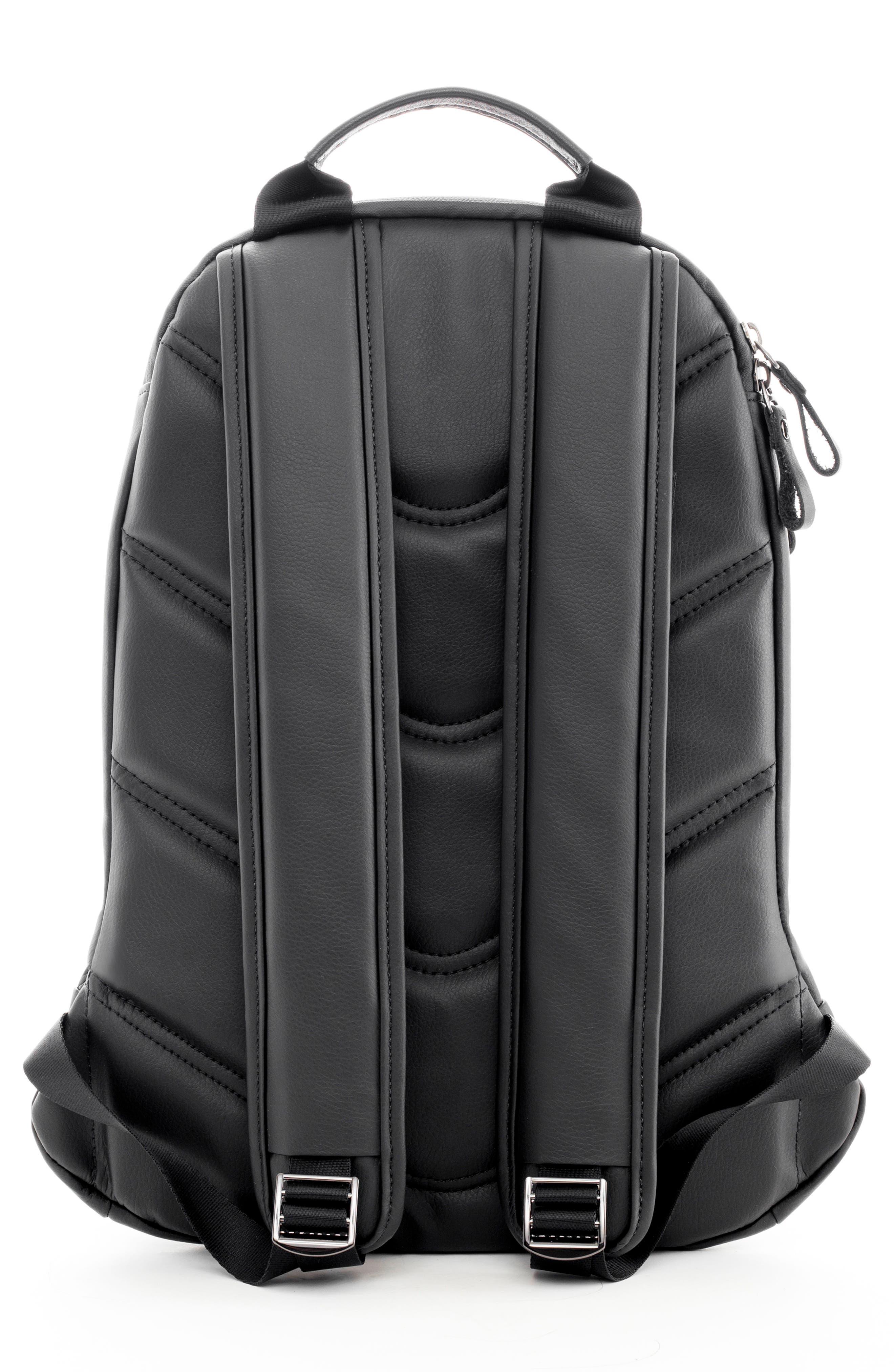Mini Faux Leather Backpack,                             Alternate thumbnail 2, color,                             PEBBLED BLACK