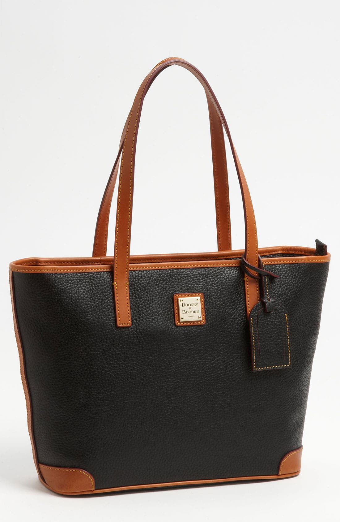 DOONEY & BOURKE 'Charleston - Pebble Grain Collection' Water Resistant Tumbled Leather Shopper, Main, color, 001
