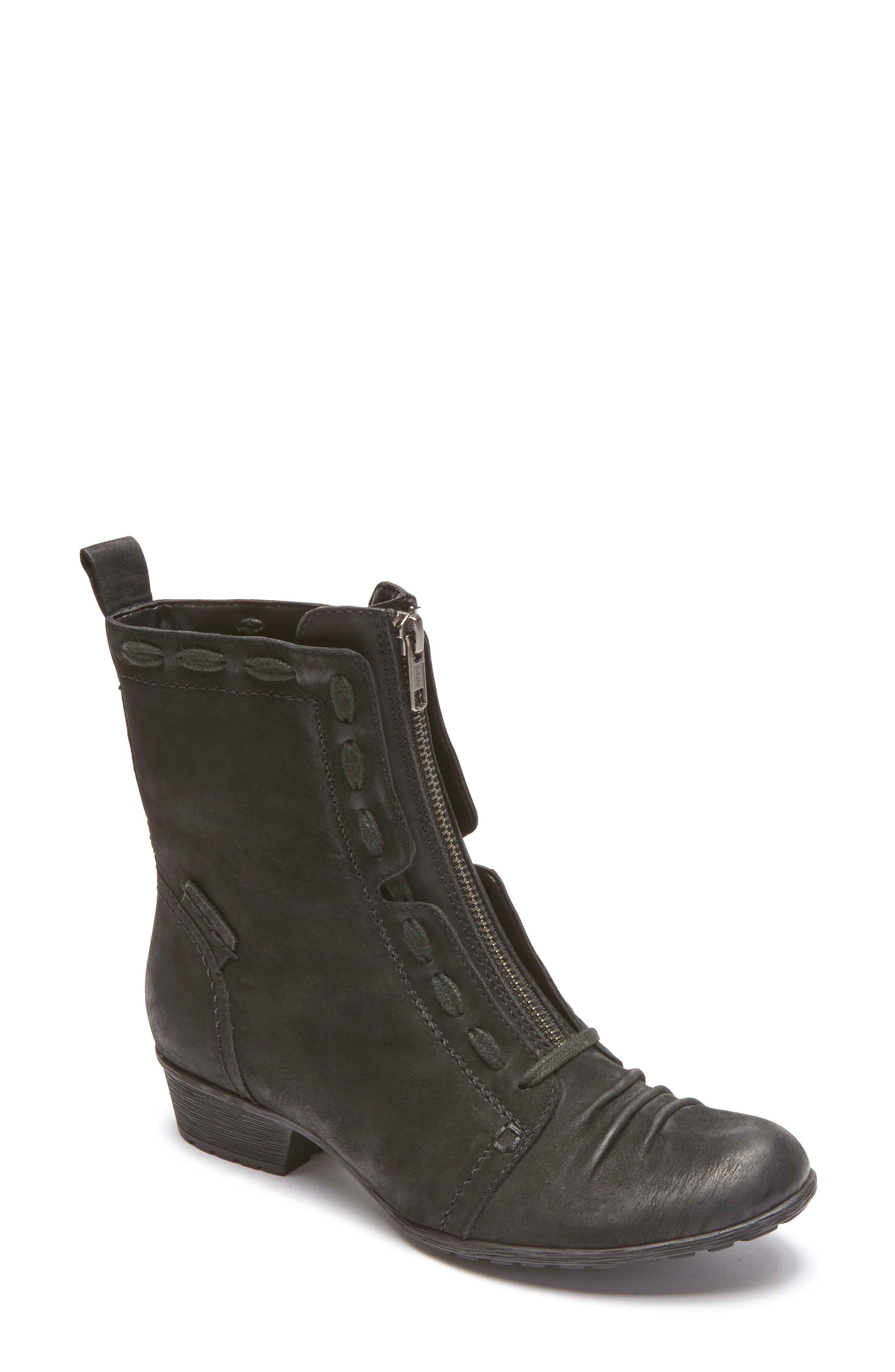 Gratasha Front Zip Boot,                             Main thumbnail 1, color,                             BLACK NUBUCK