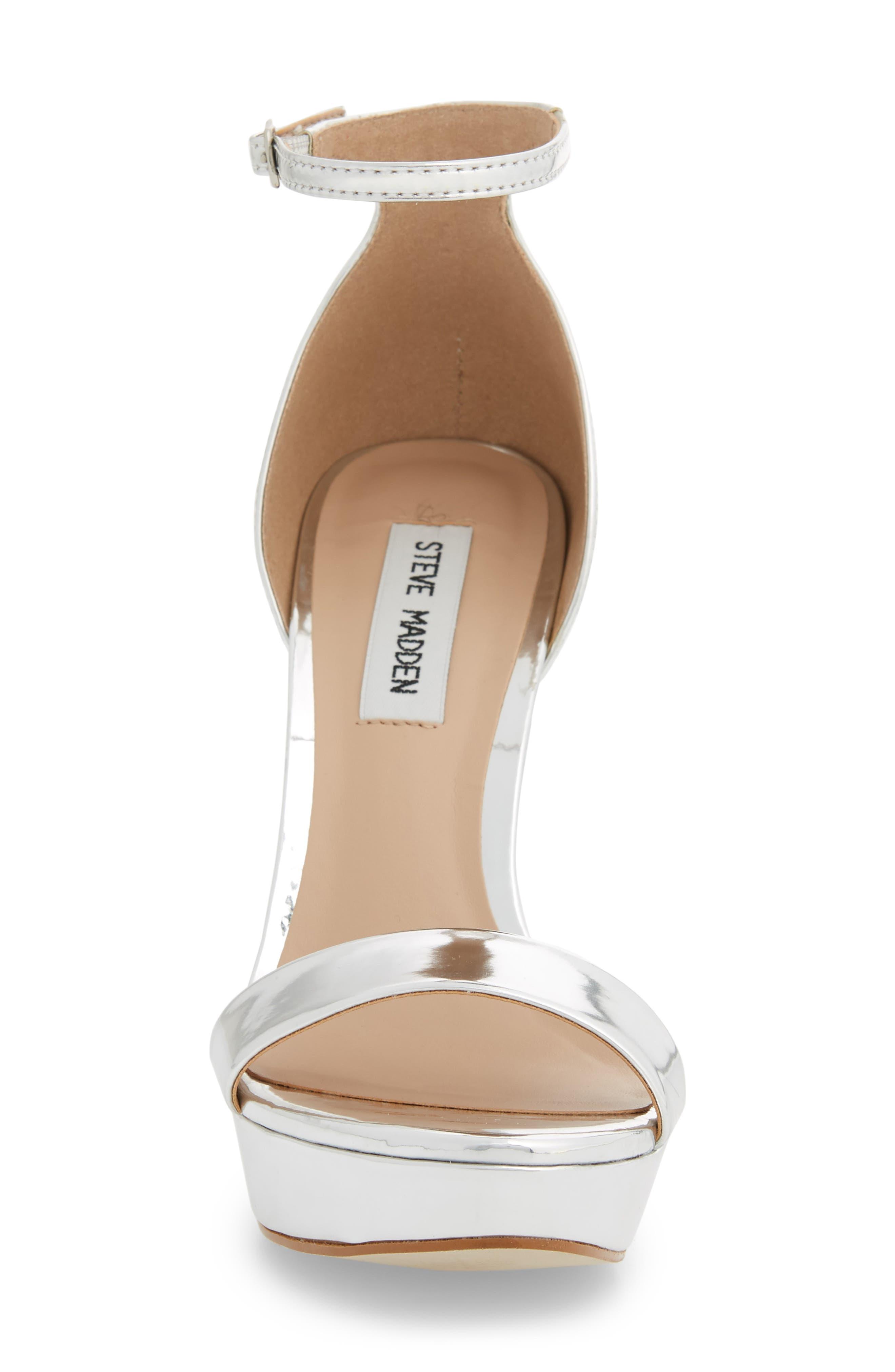 Starlet Platform Sandal,                             Alternate thumbnail 4, color,                             SILVER METAL