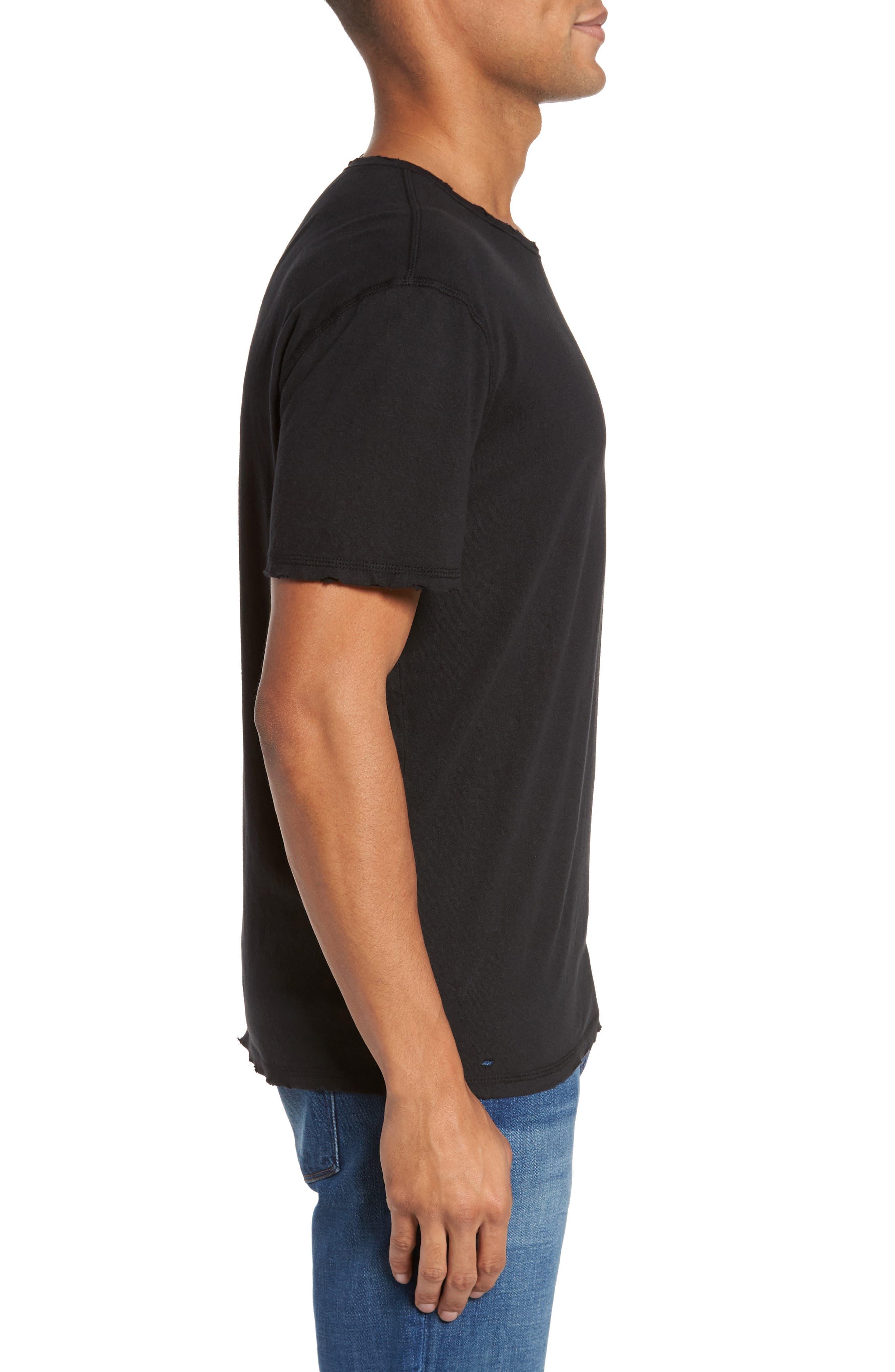 Ramsey Shredded Hem T-Shirt,                             Alternate thumbnail 3, color,                             015