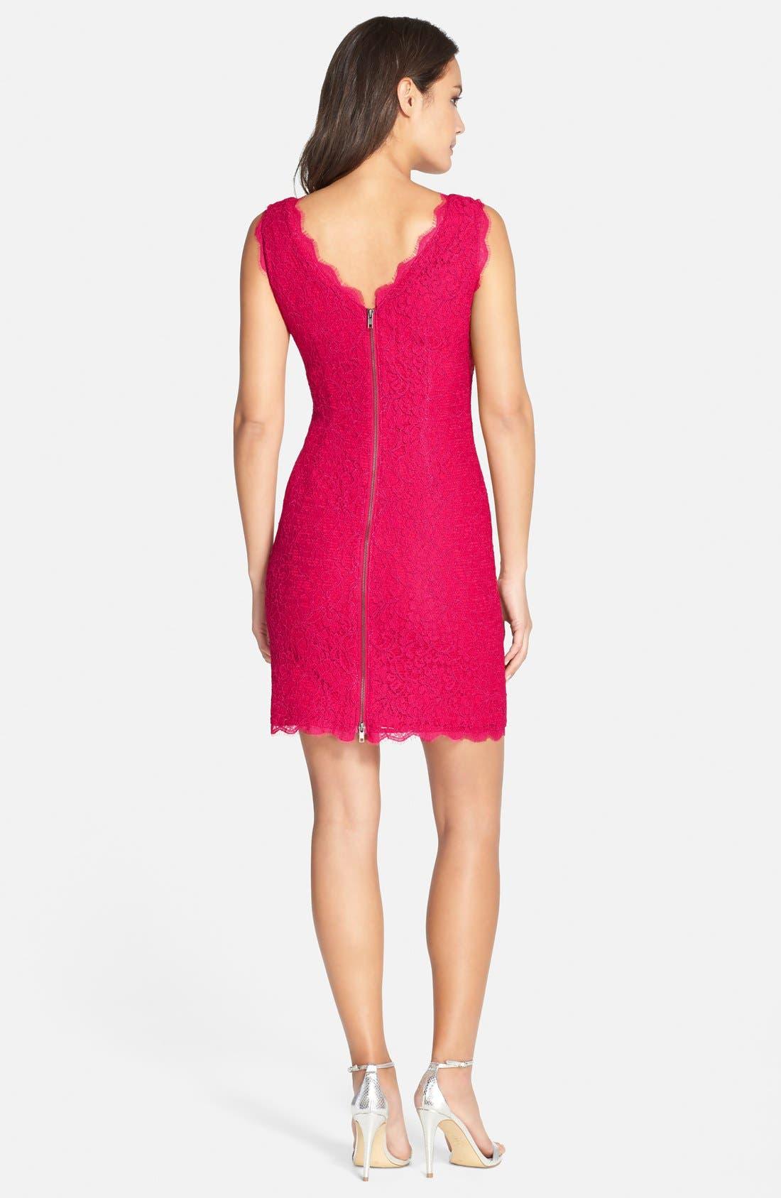Boatneck Lace Sheath Dress,                             Alternate thumbnail 135, color,