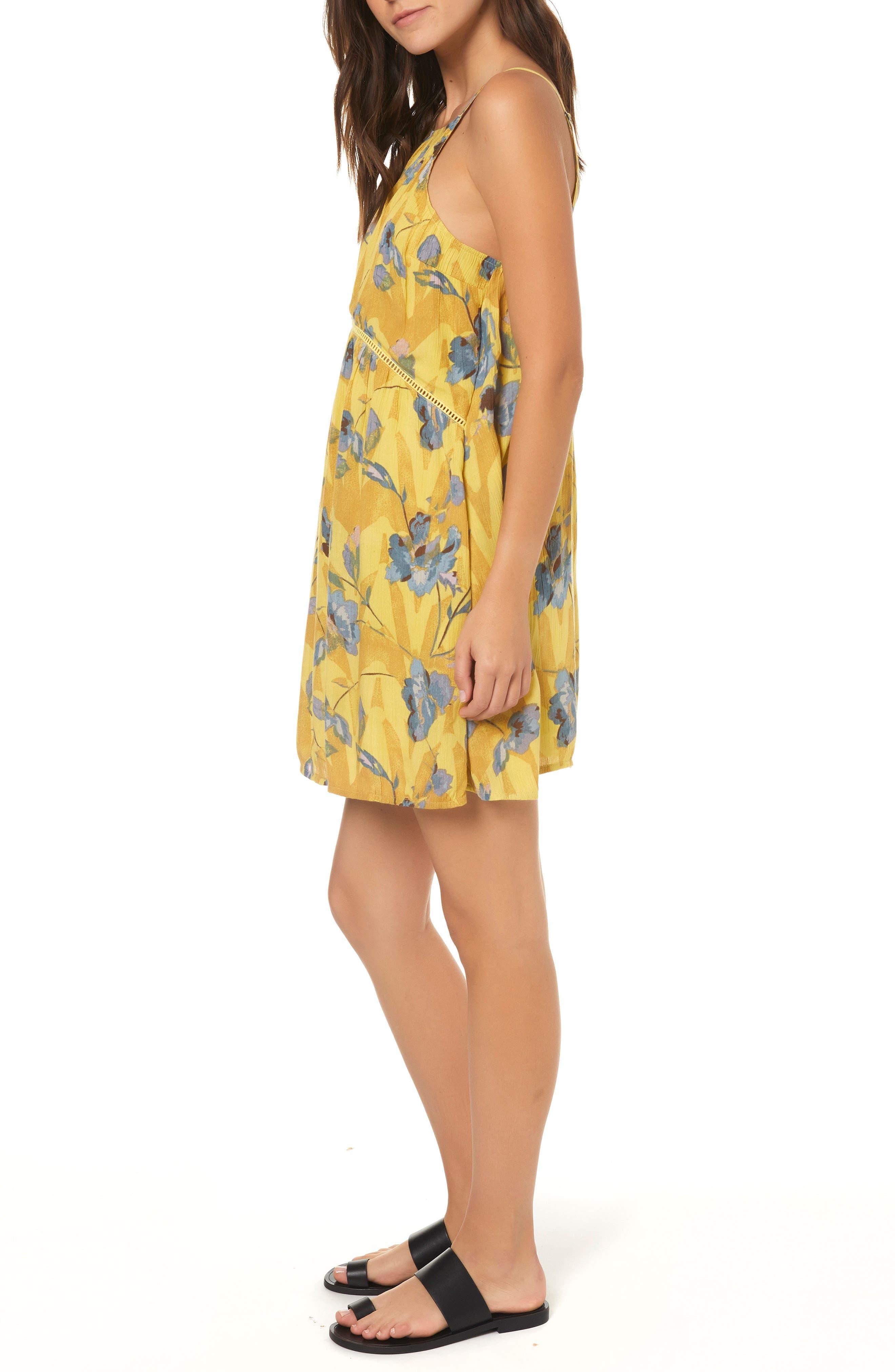 Henna Floral Print Woven Tank Dress,                             Alternate thumbnail 3, color,                             MULTI COLORED