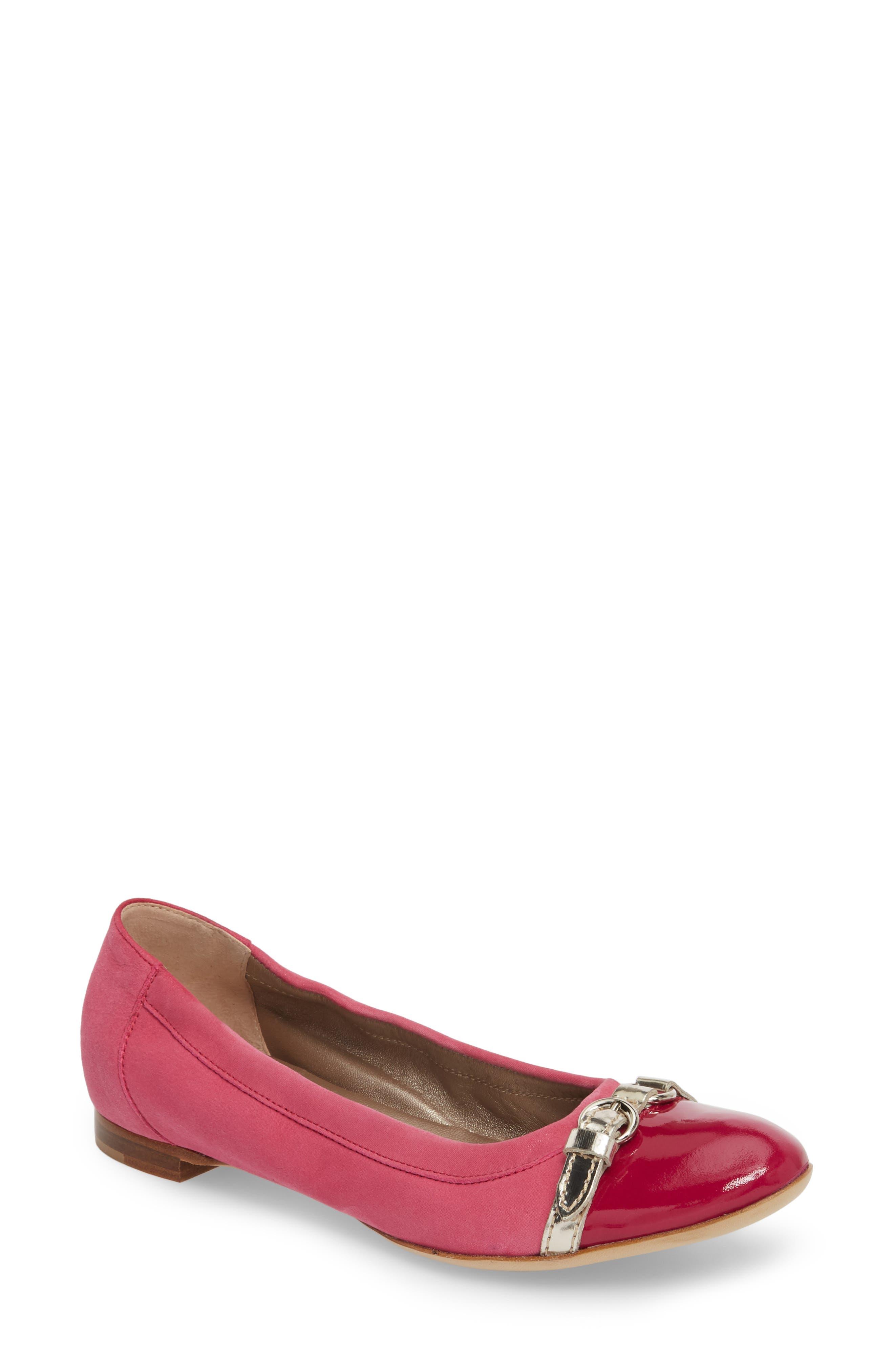 Agl Cap Toe Ballet Flat, Pink