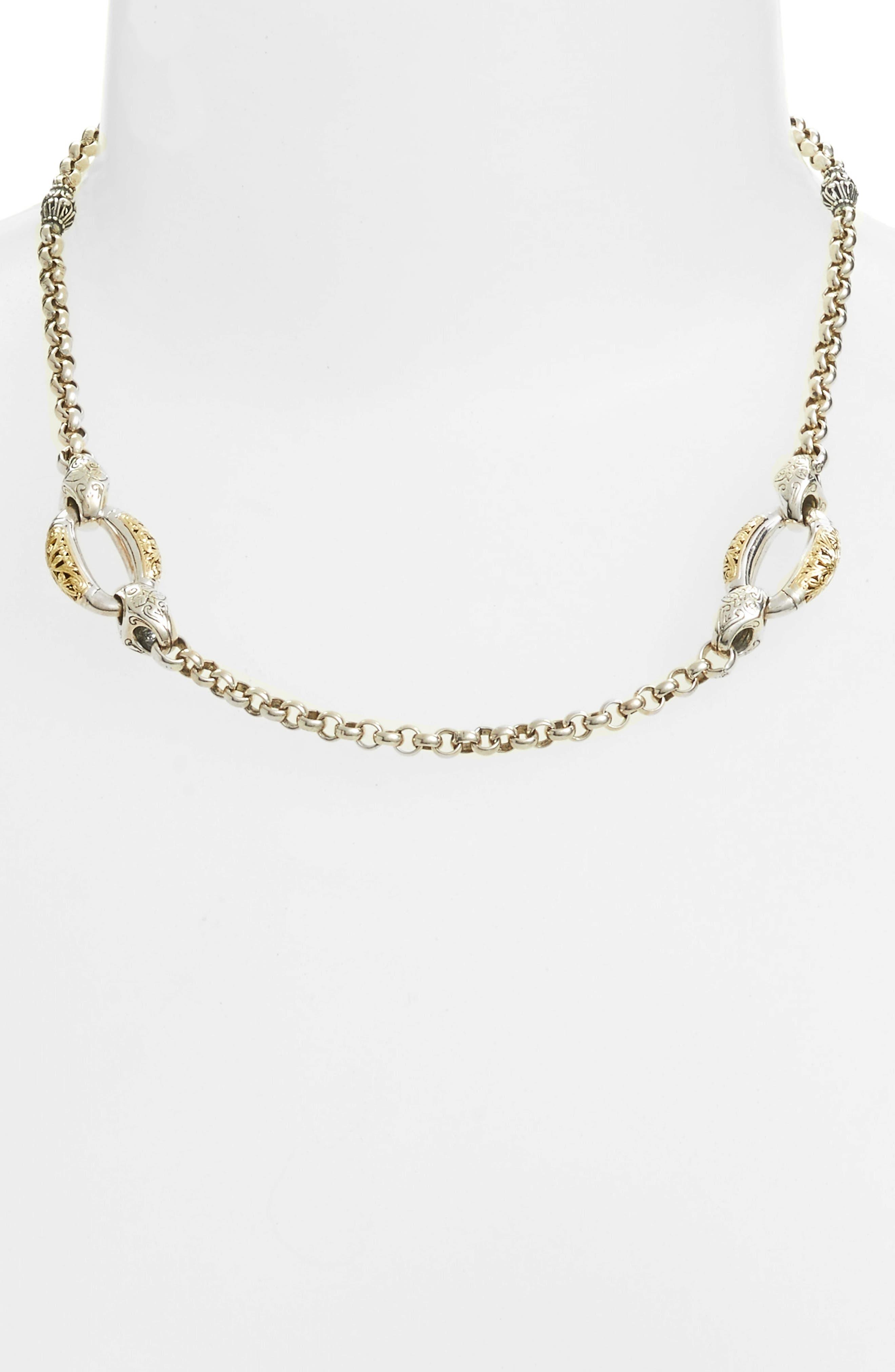 Classics Daphne Link Necklace,                             Alternate thumbnail 2, color,                             SILVER/ GOLD