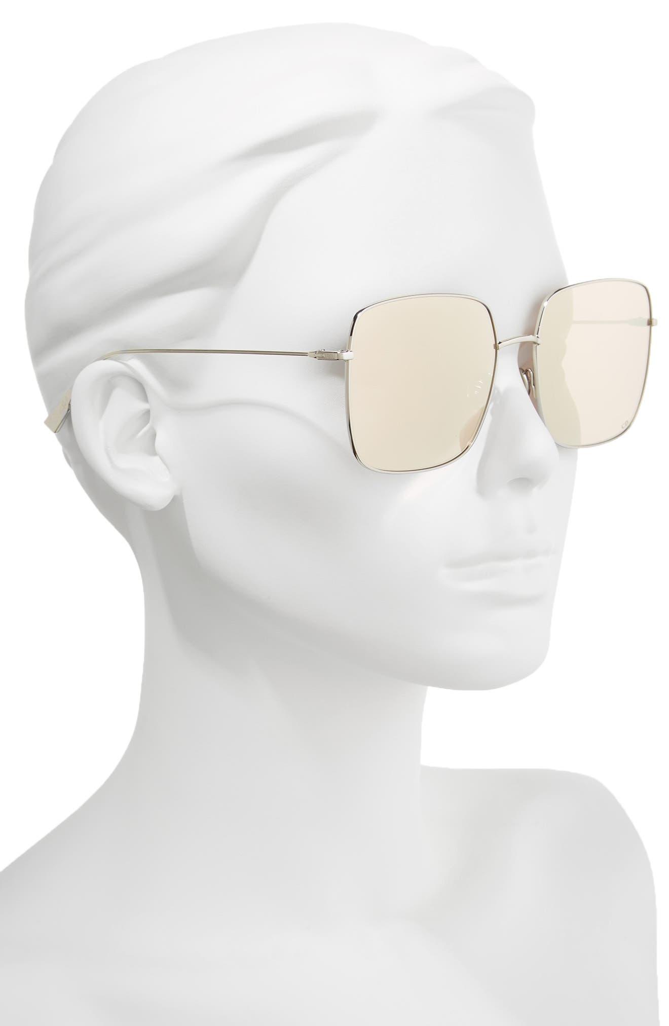 Stellaire 1 59mm Square Sunglasses,                             Alternate thumbnail 2, color,                             PALLADIUM