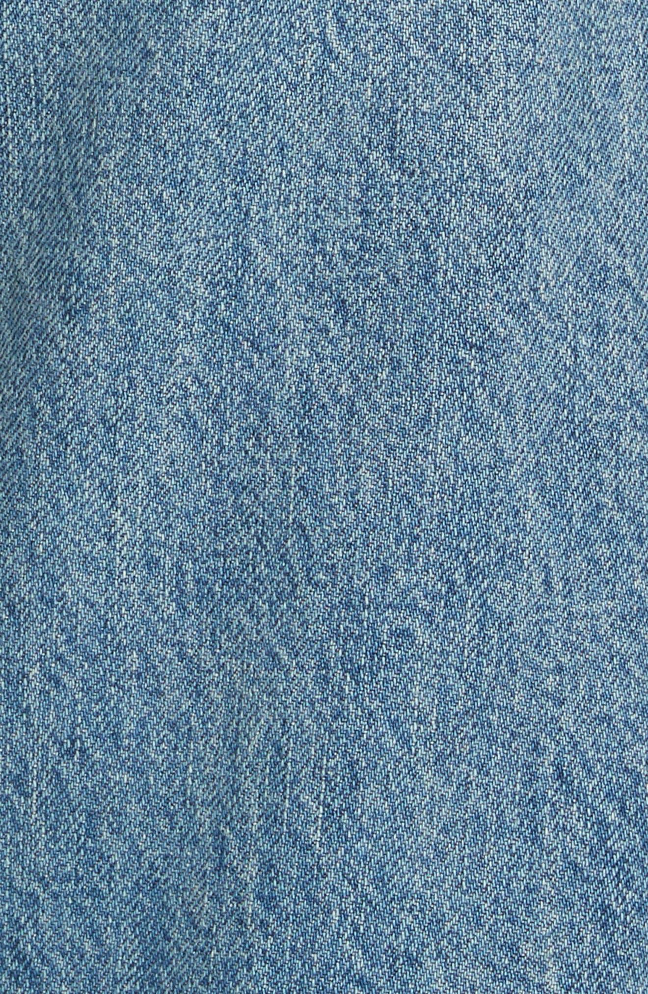 Laurent High Rise Distressed Boyfriend Jeans,                             Alternate thumbnail 5, color,                             VINTAGE