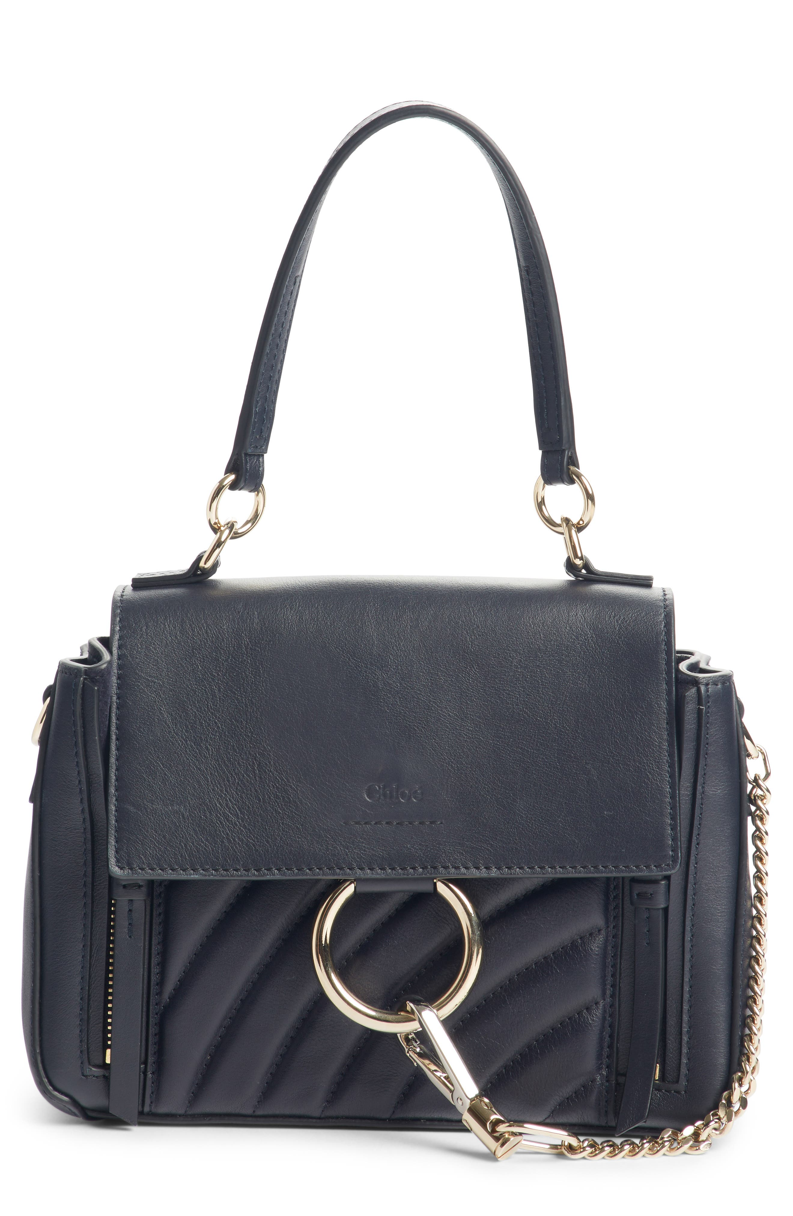 Mini Faye Day Leather Satchel,                             Main thumbnail 1, color,                             FULL BLUE