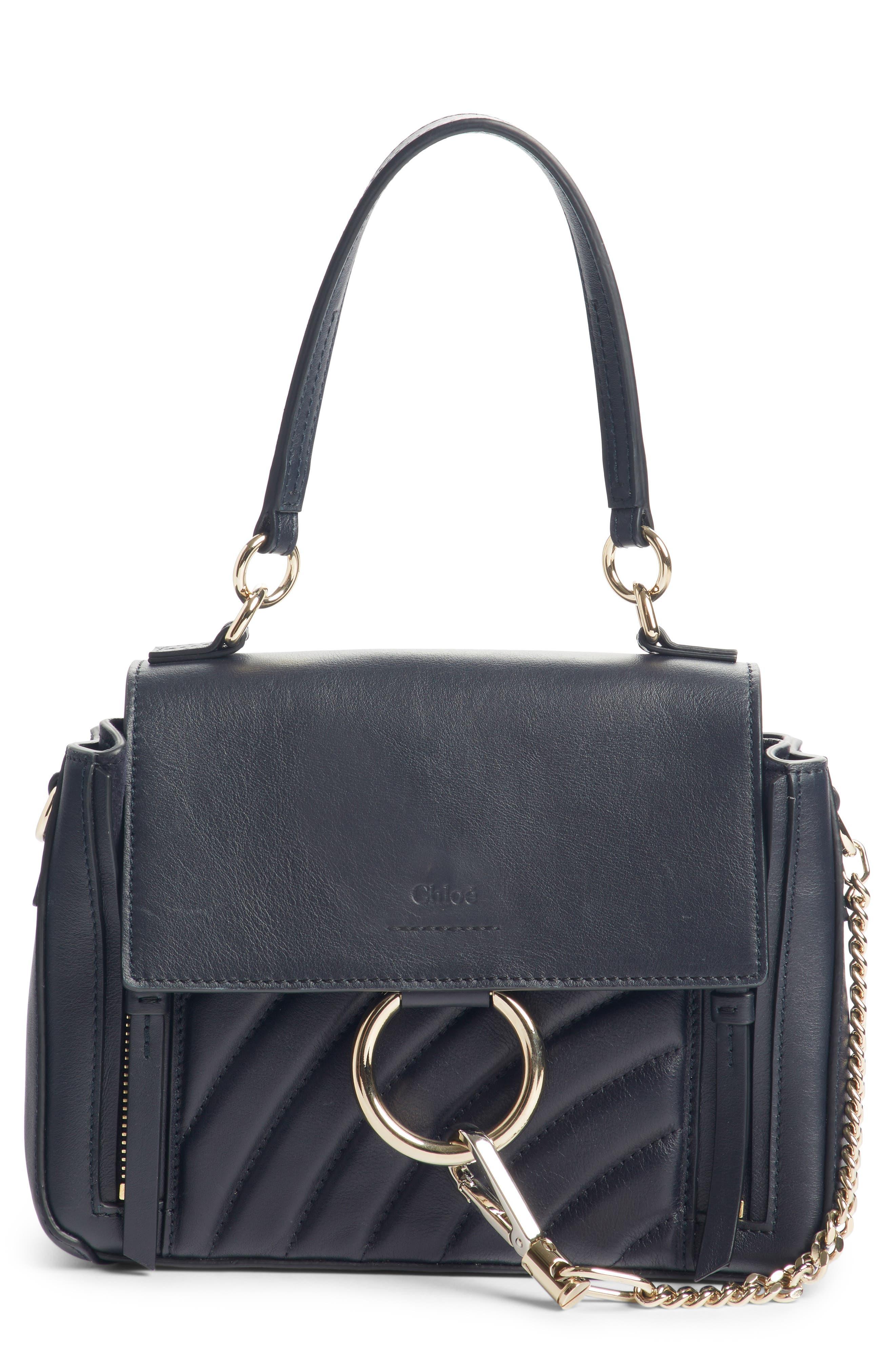 Mini Faye Day Leather Satchel,                         Main,                         color, FULL BLUE