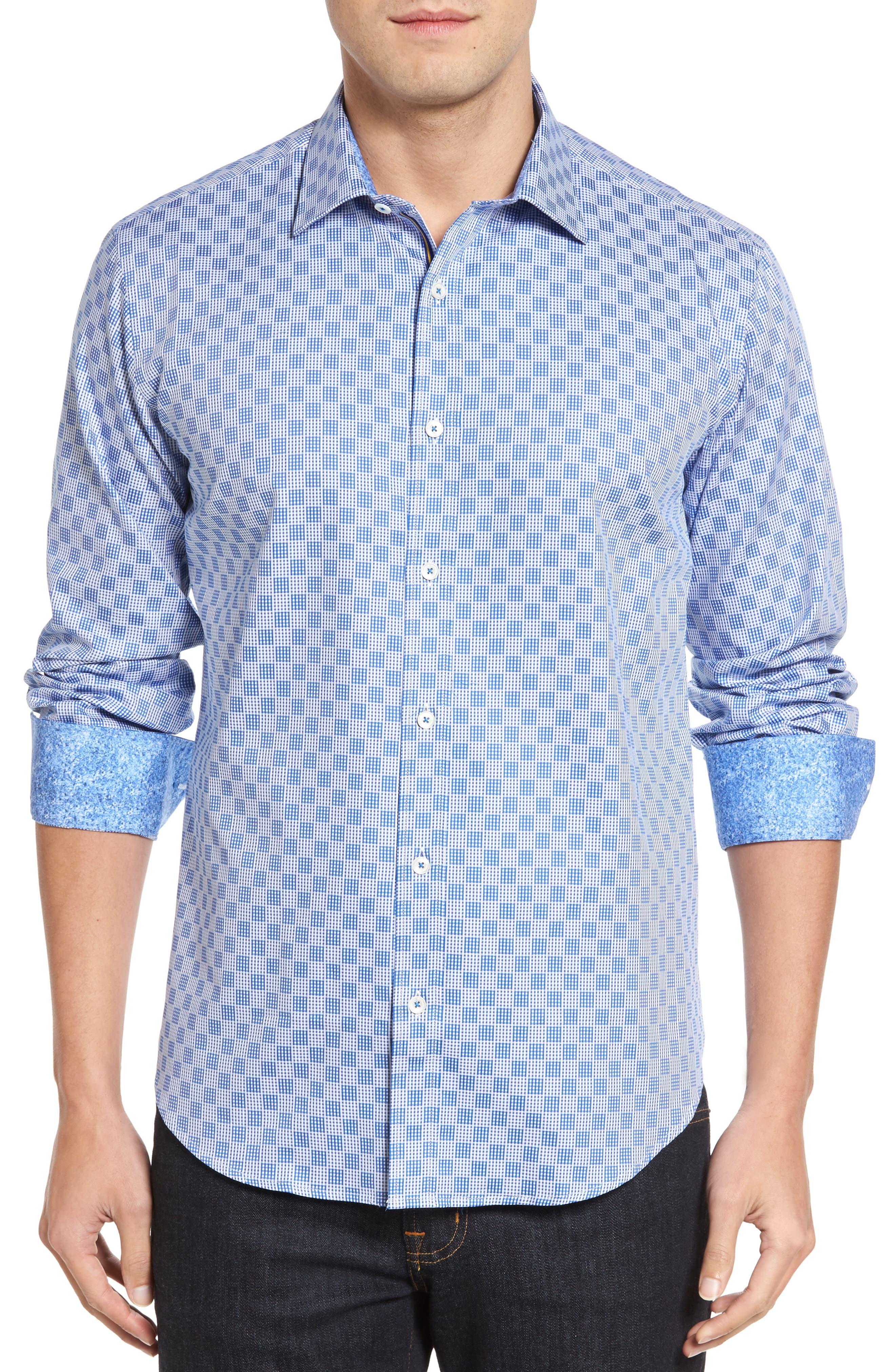 Shaped Fit Check Sport Shirt,                             Main thumbnail 1, color,                             422