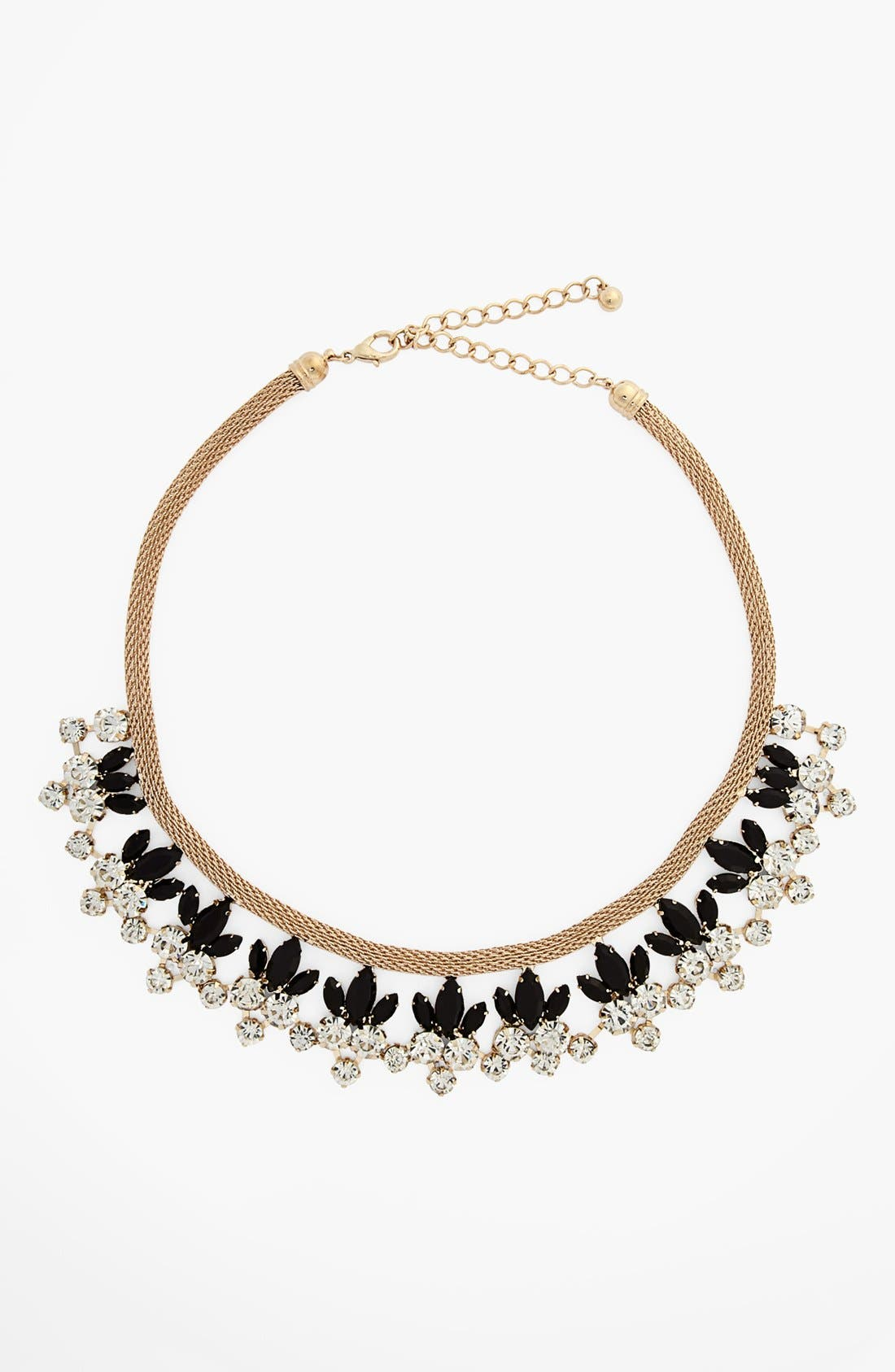 NATASHA COUTURE Floral Statement Necklace, Main, color, 001