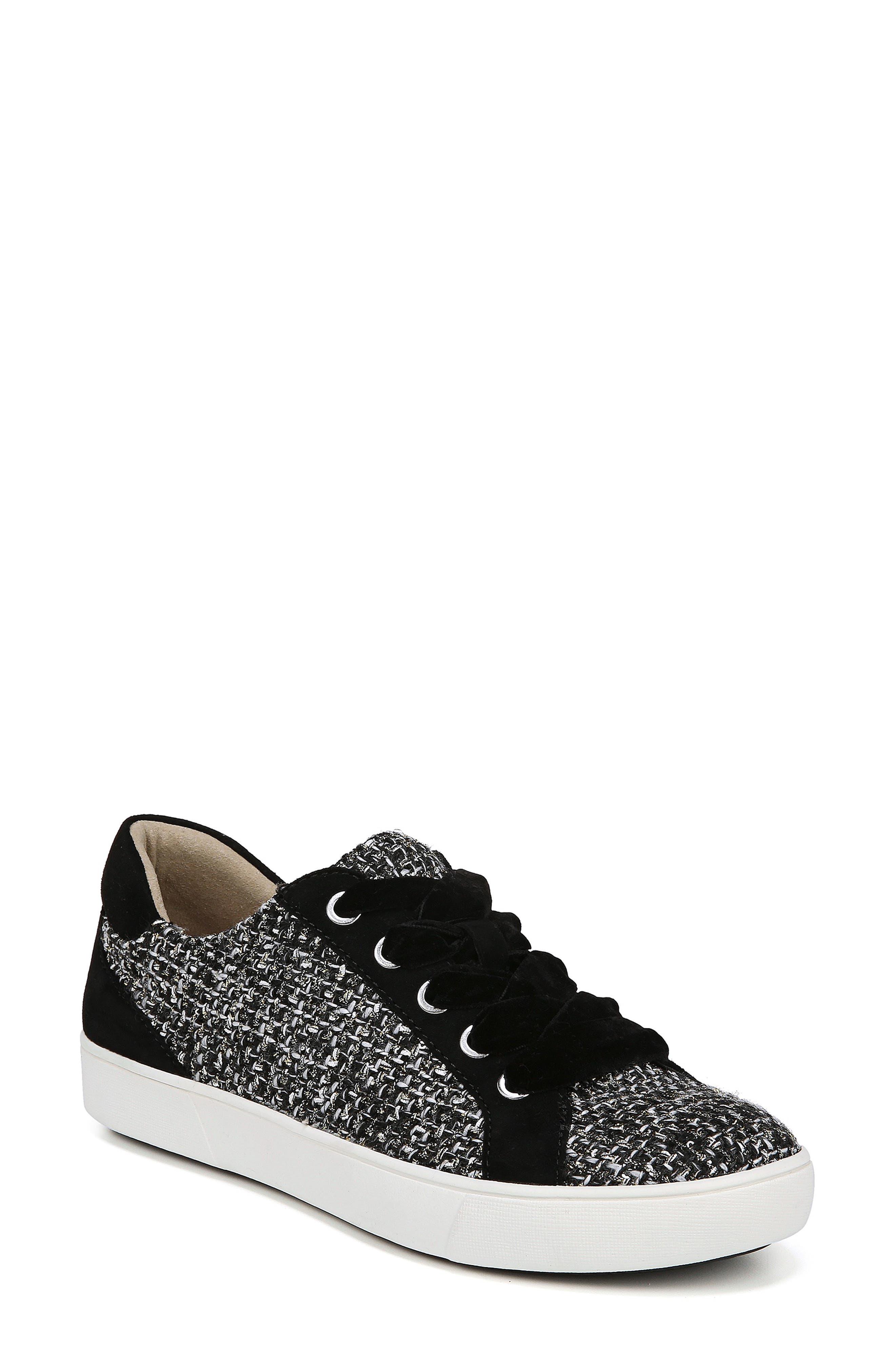 Morrison Sneaker,                         Main,                         color, BLACK/ WHITE TWEED FABRIC