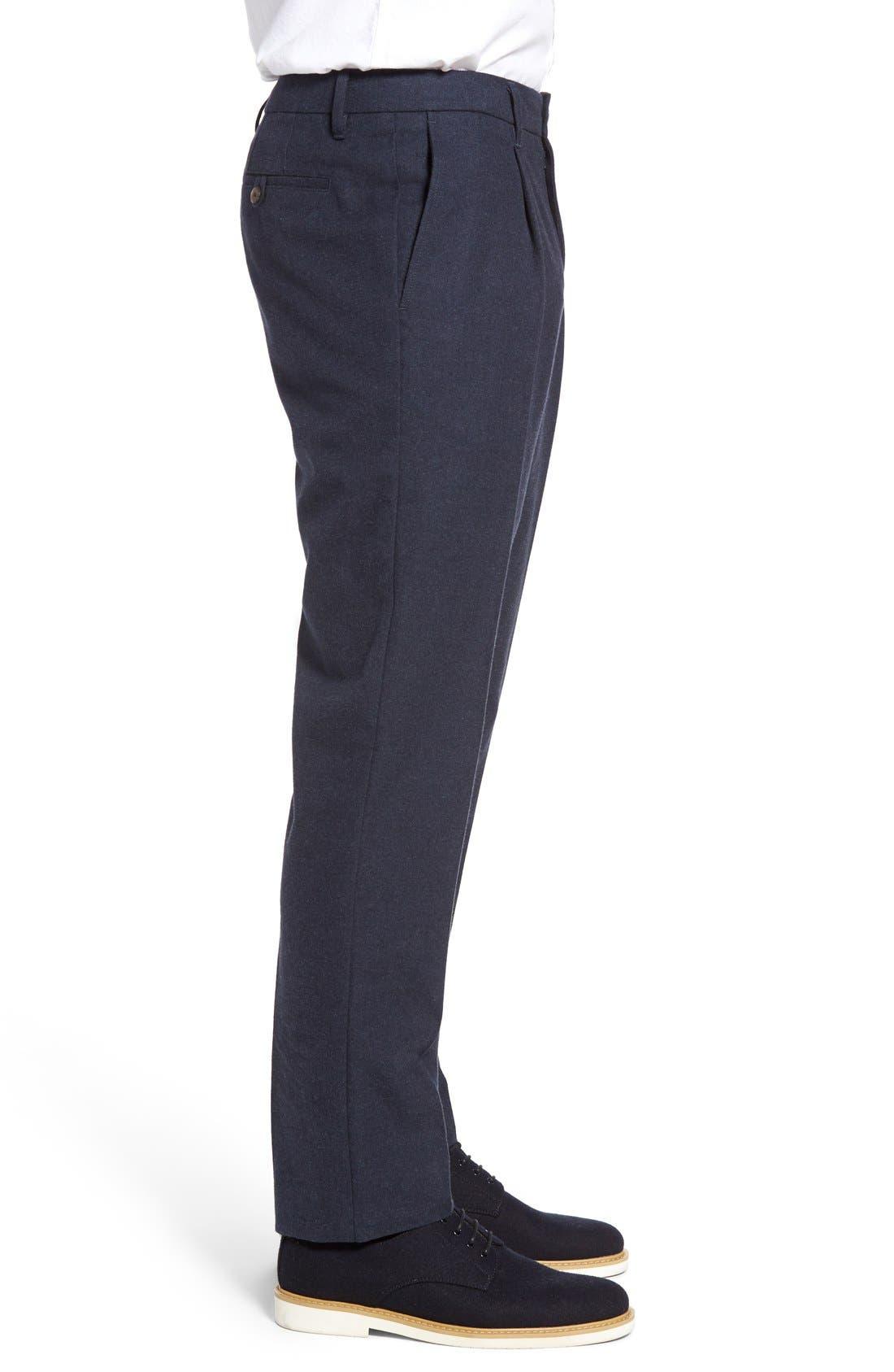 BONOBOS,                             Slim Fit Flannel Trousers,                             Alternate thumbnail 8, color,                             400