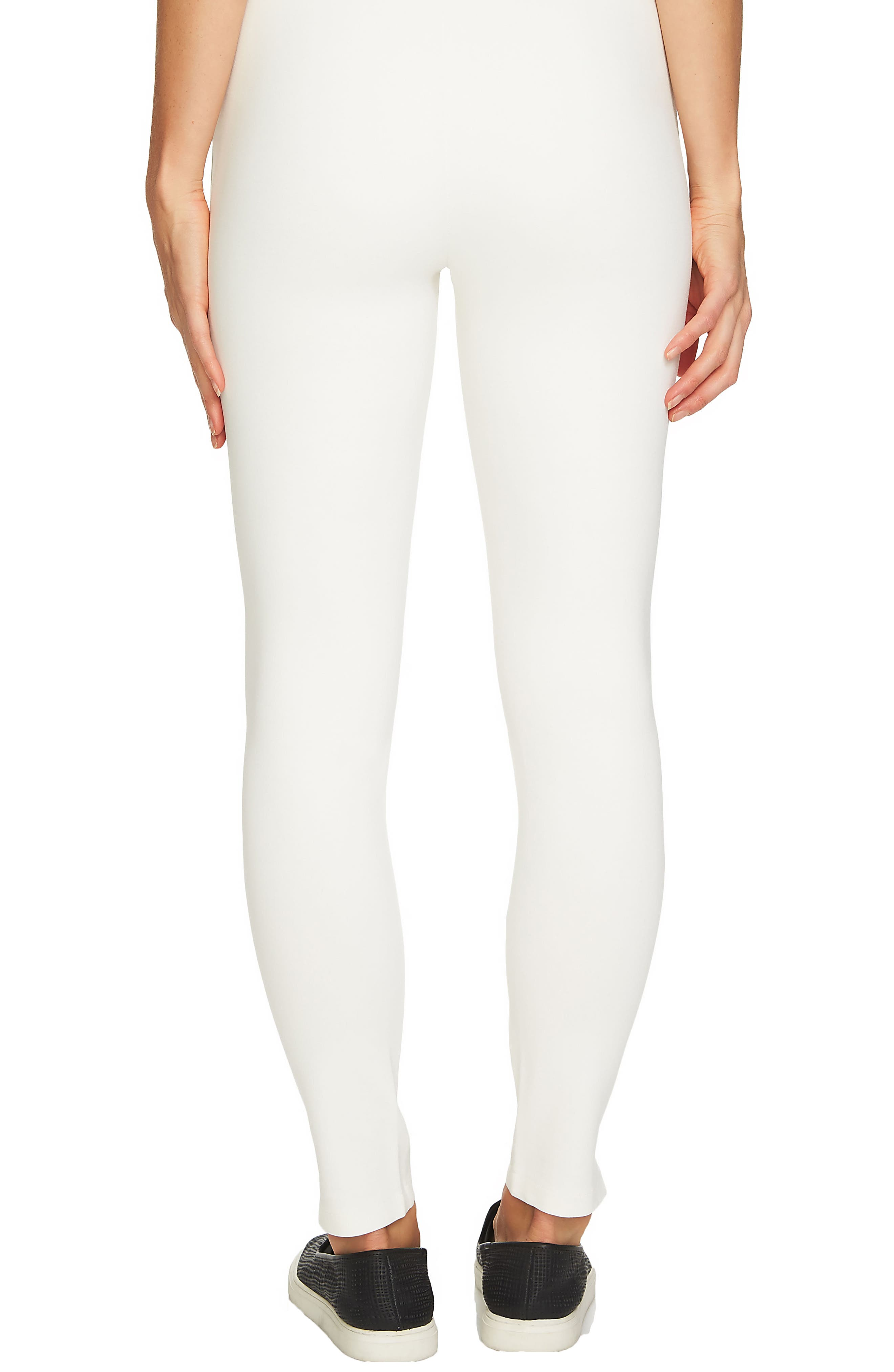 Ponte Knit Leggings,                             Alternate thumbnail 4, color,