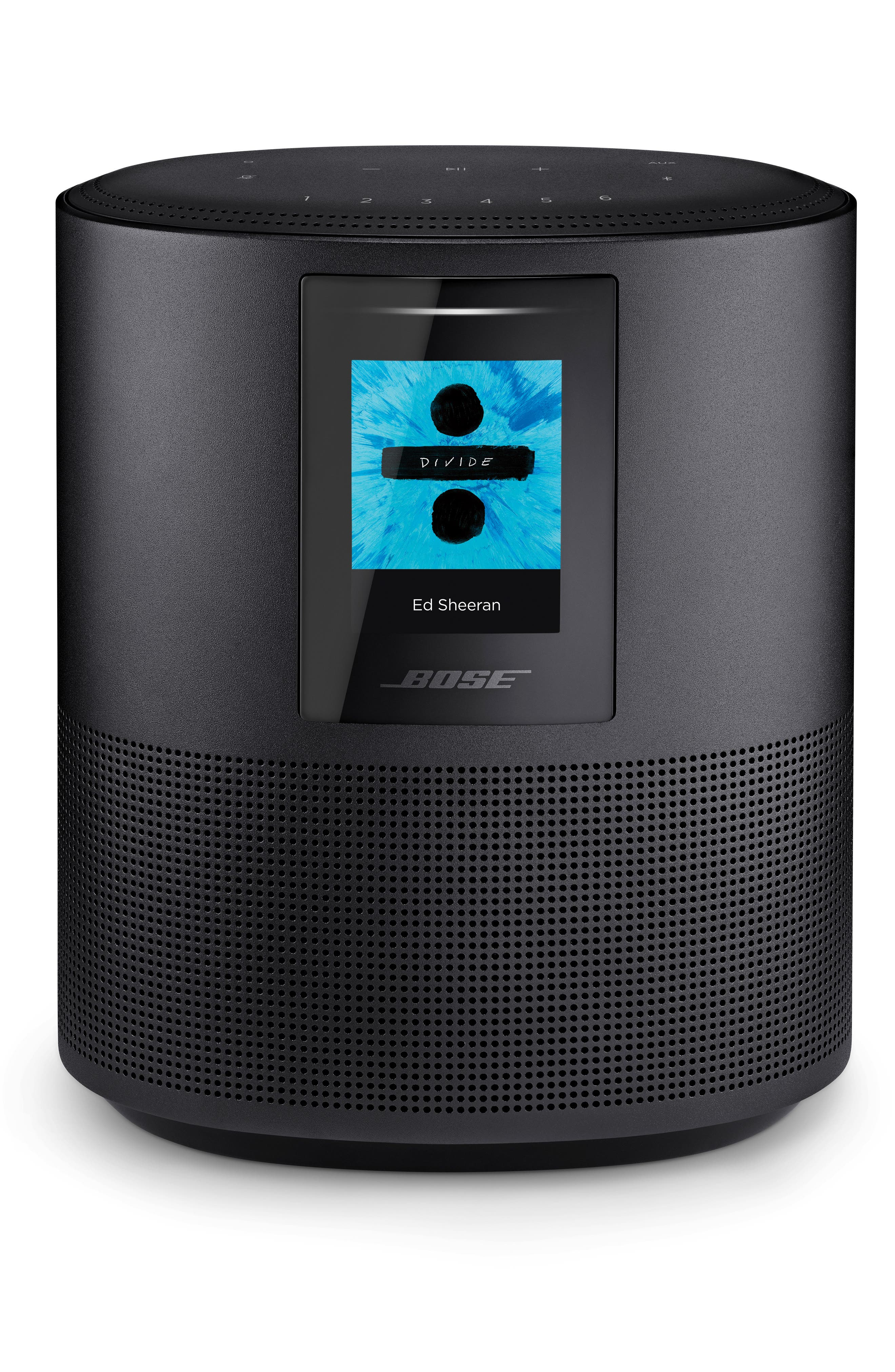 Home 500 Bluetooth<sup>®</sup> Speaker,                             Main thumbnail 1, color,                             BLACK