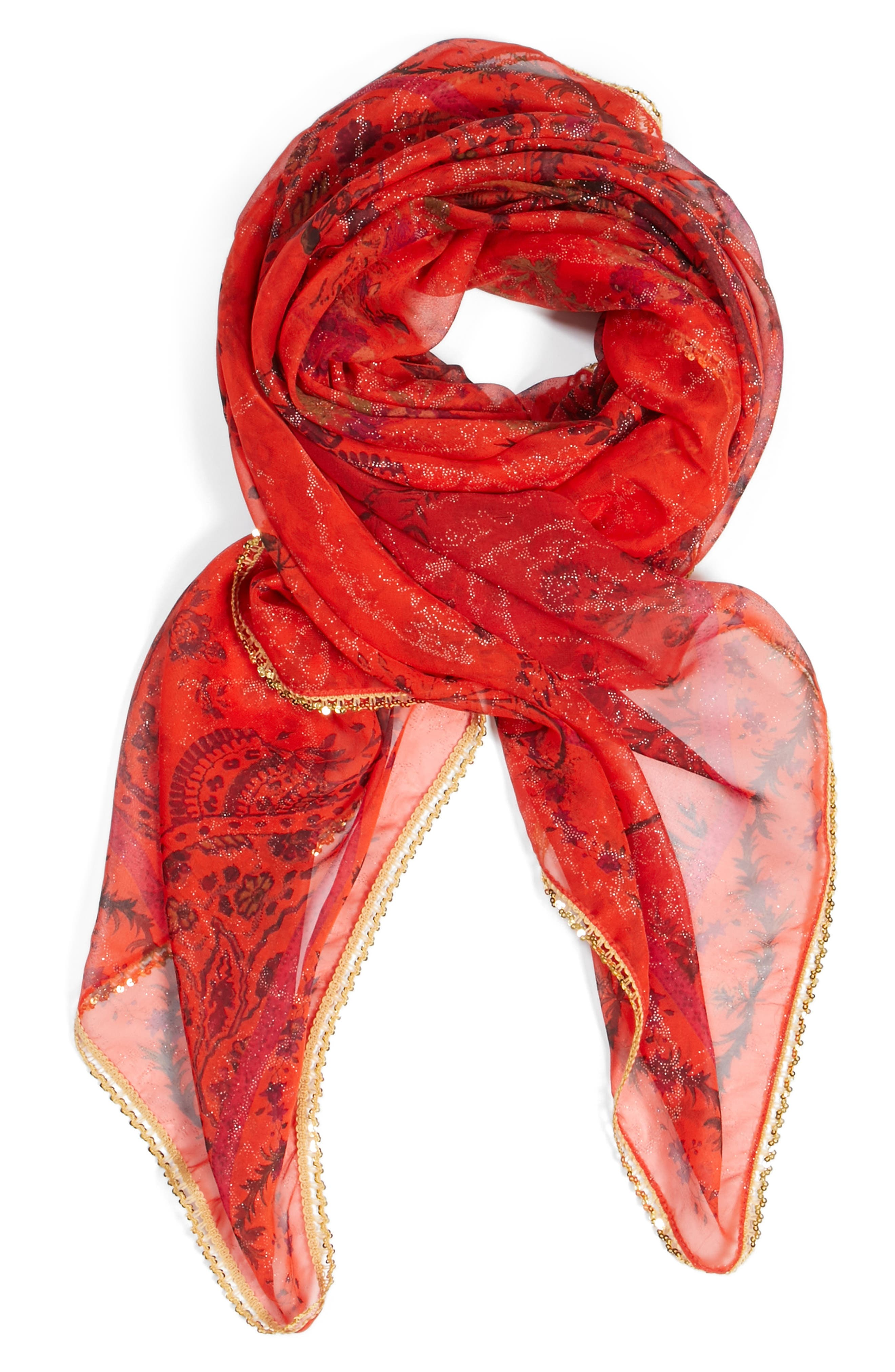Bombay Silk Scarf,                             Alternate thumbnail 2, color,                             600
