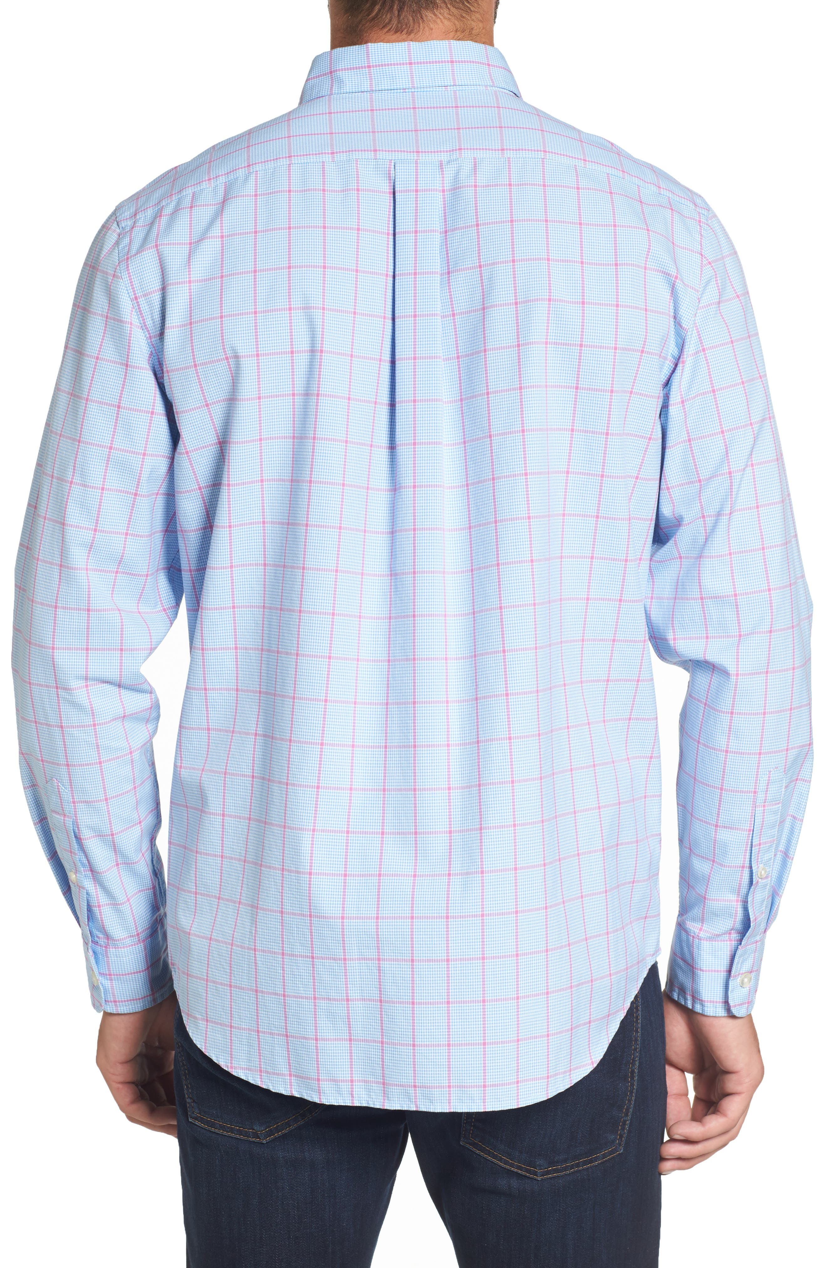 Murray Slim Fit Inlet Check Sport Shirt,                             Alternate thumbnail 2, color,                             438