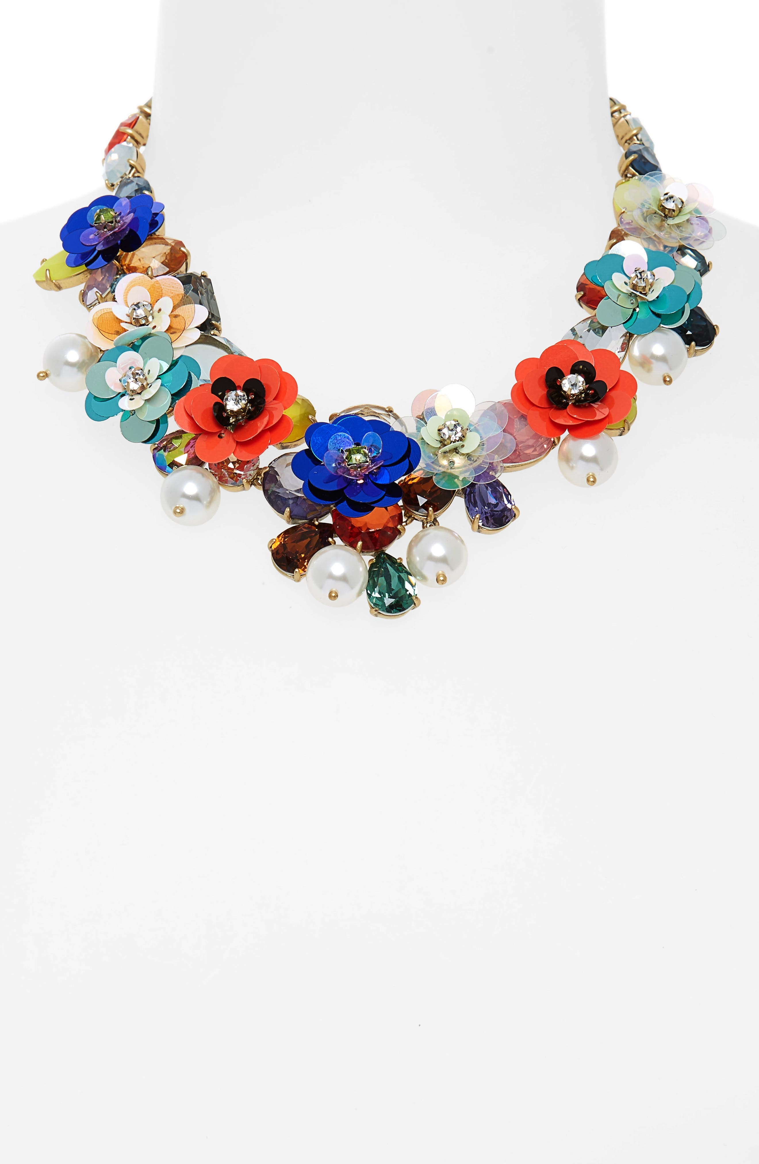 Crystal & Sequin Wreath Necklace,                             Alternate thumbnail 2, color,                             400