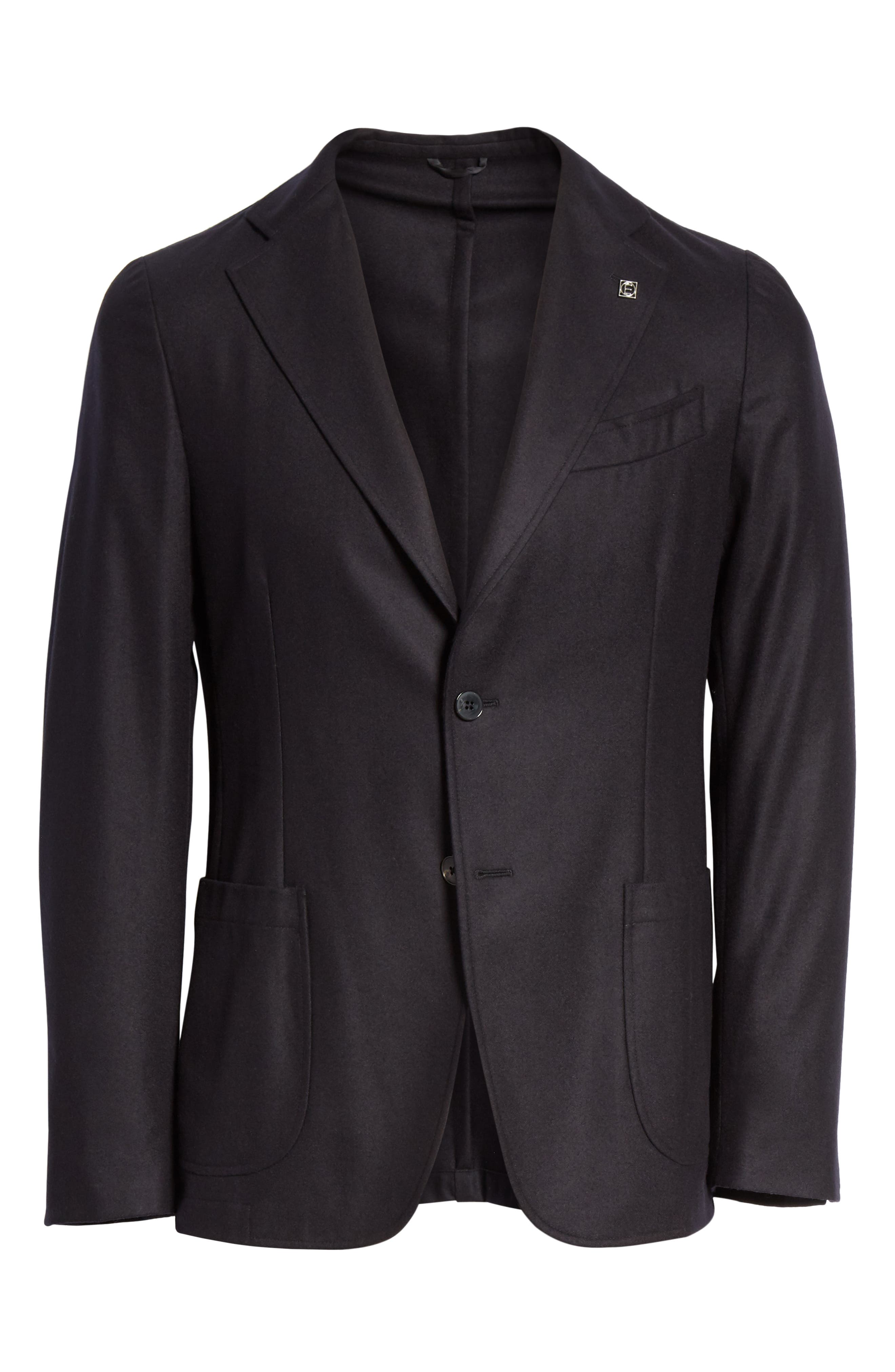 EIDOS Trim Fit Wool Blazer in Black