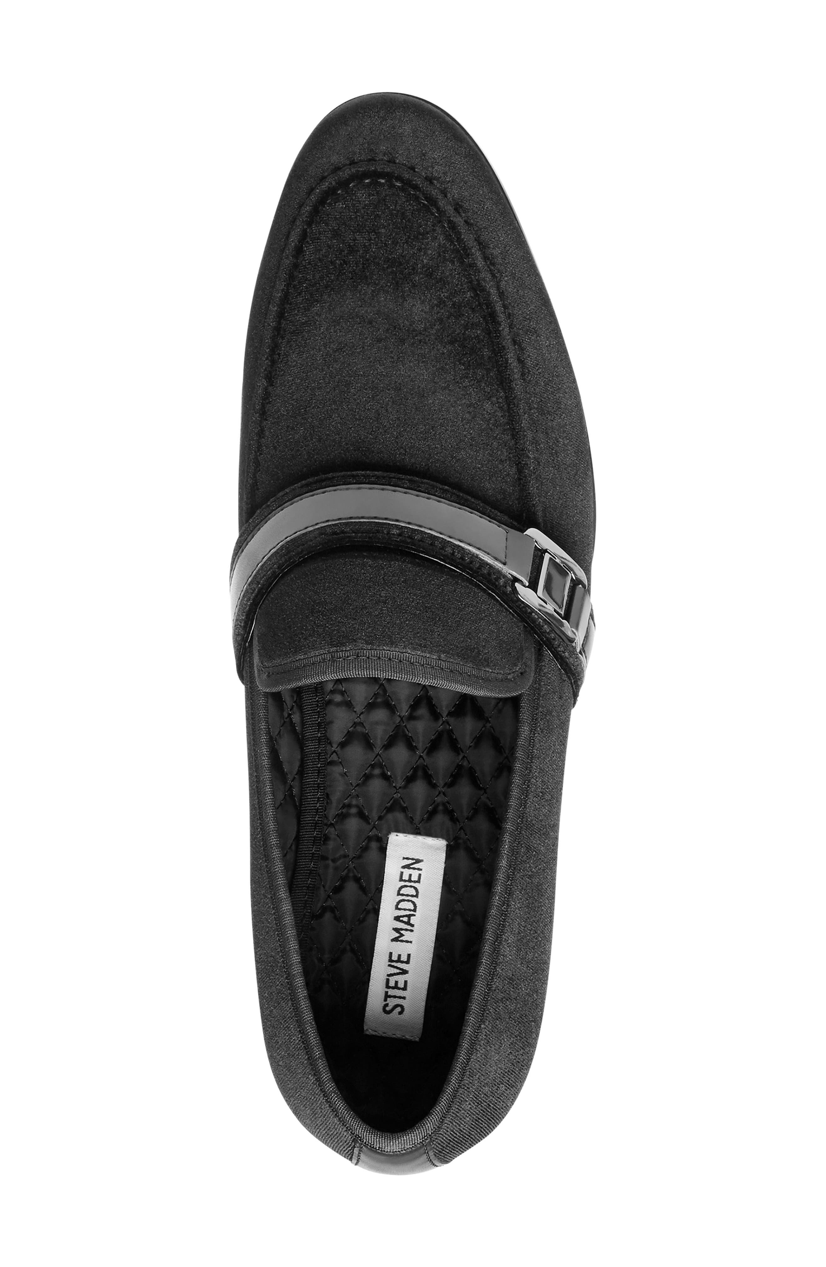 Macklin Bit Loafer,                             Alternate thumbnail 5, color,                             BLACK FABRIC