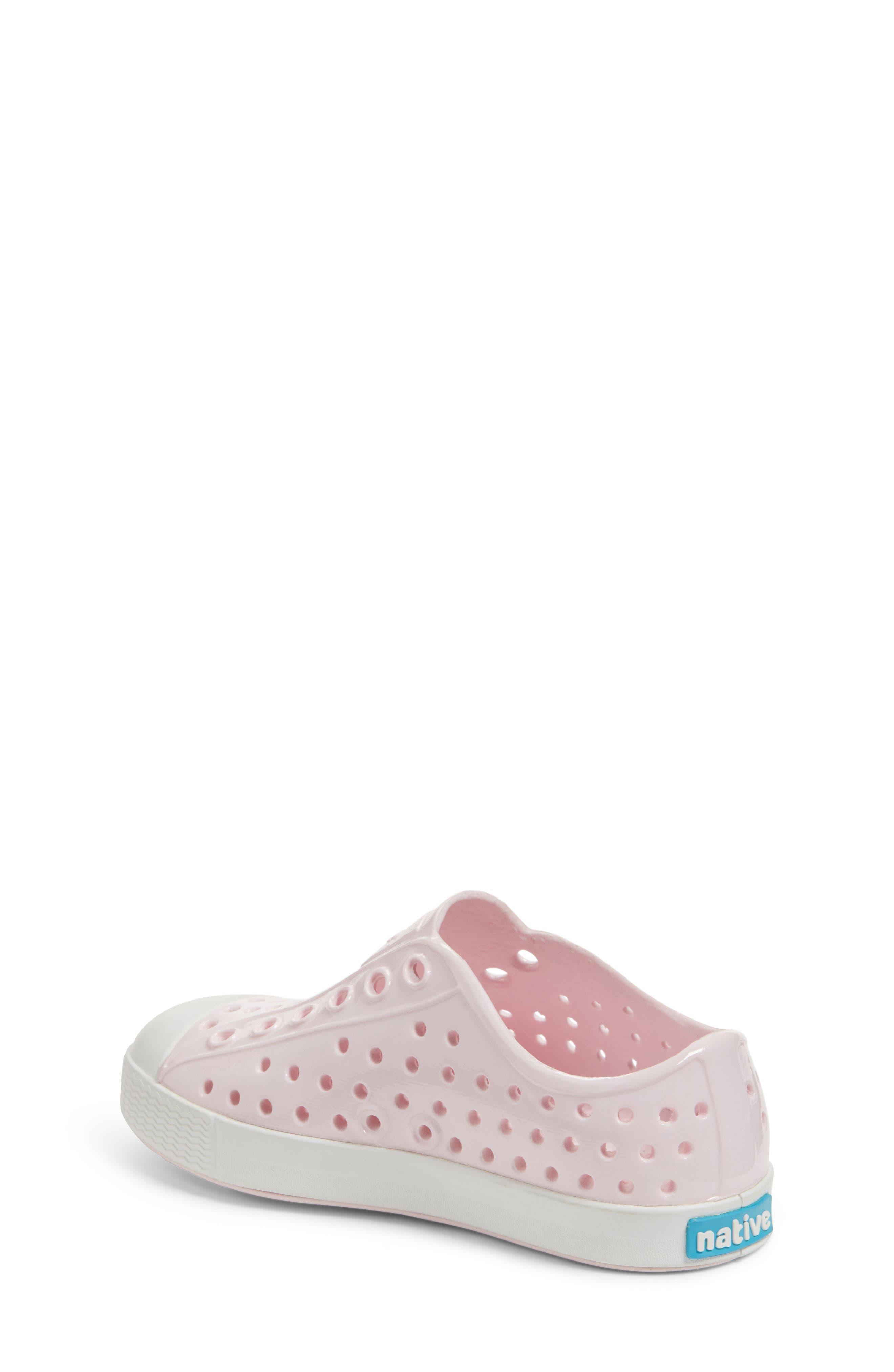 Jefferson Glossy Slip-On Sneaker,                             Alternate thumbnail 2, color,                             MILK PINK/ SHELL WHITE