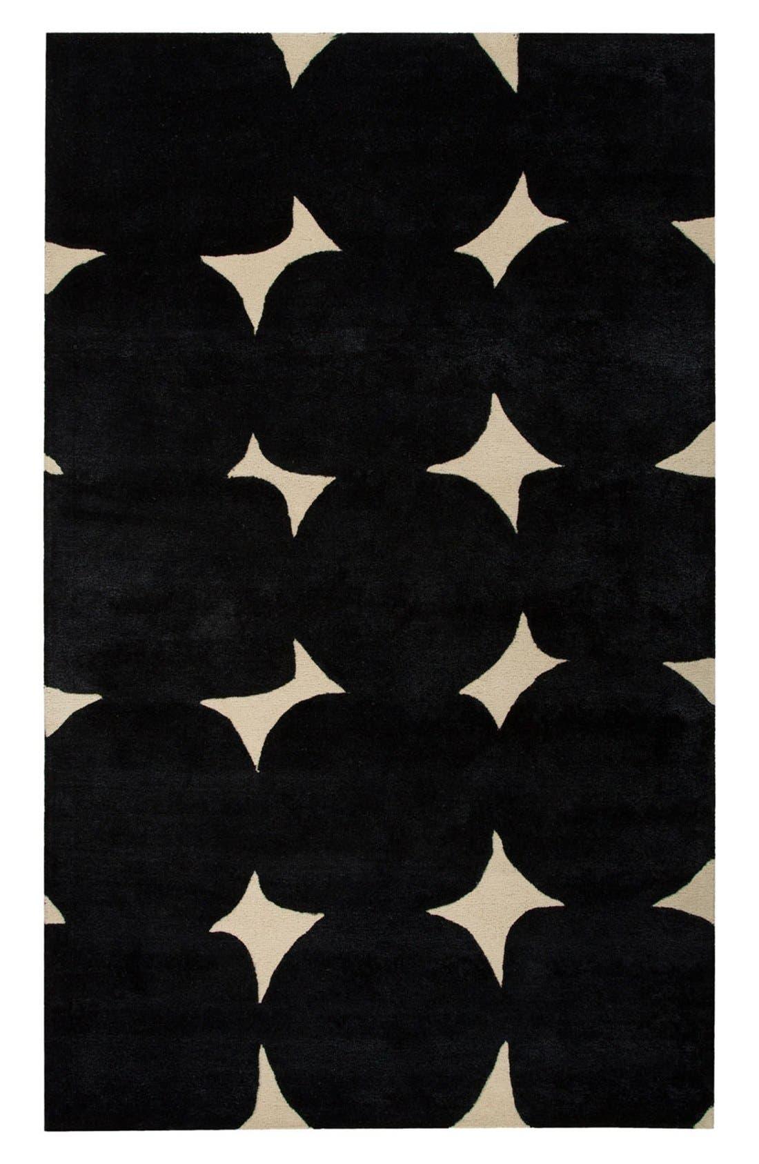 'gramercy' dot wool & silk rug,                         Main,                         color, 001