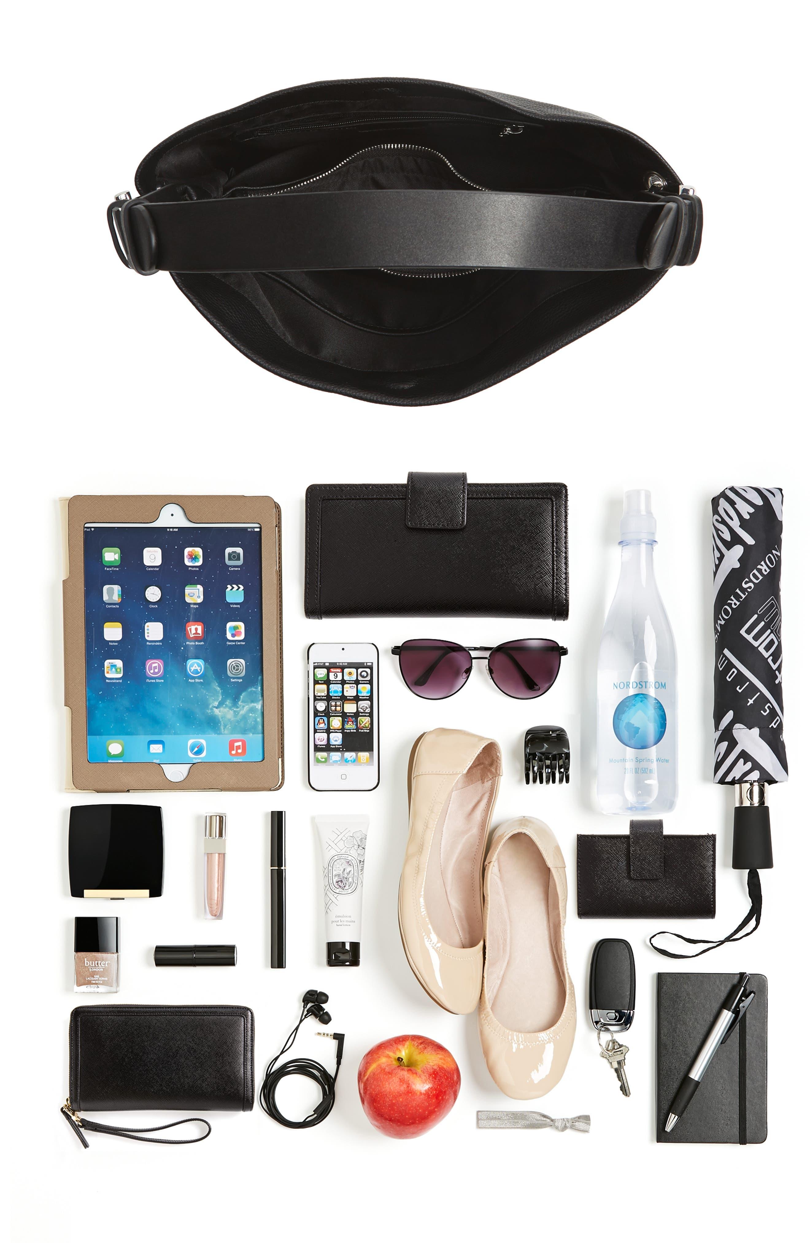 Taylor Faux Leather Shoulder Bag,                             Alternate thumbnail 19, color,