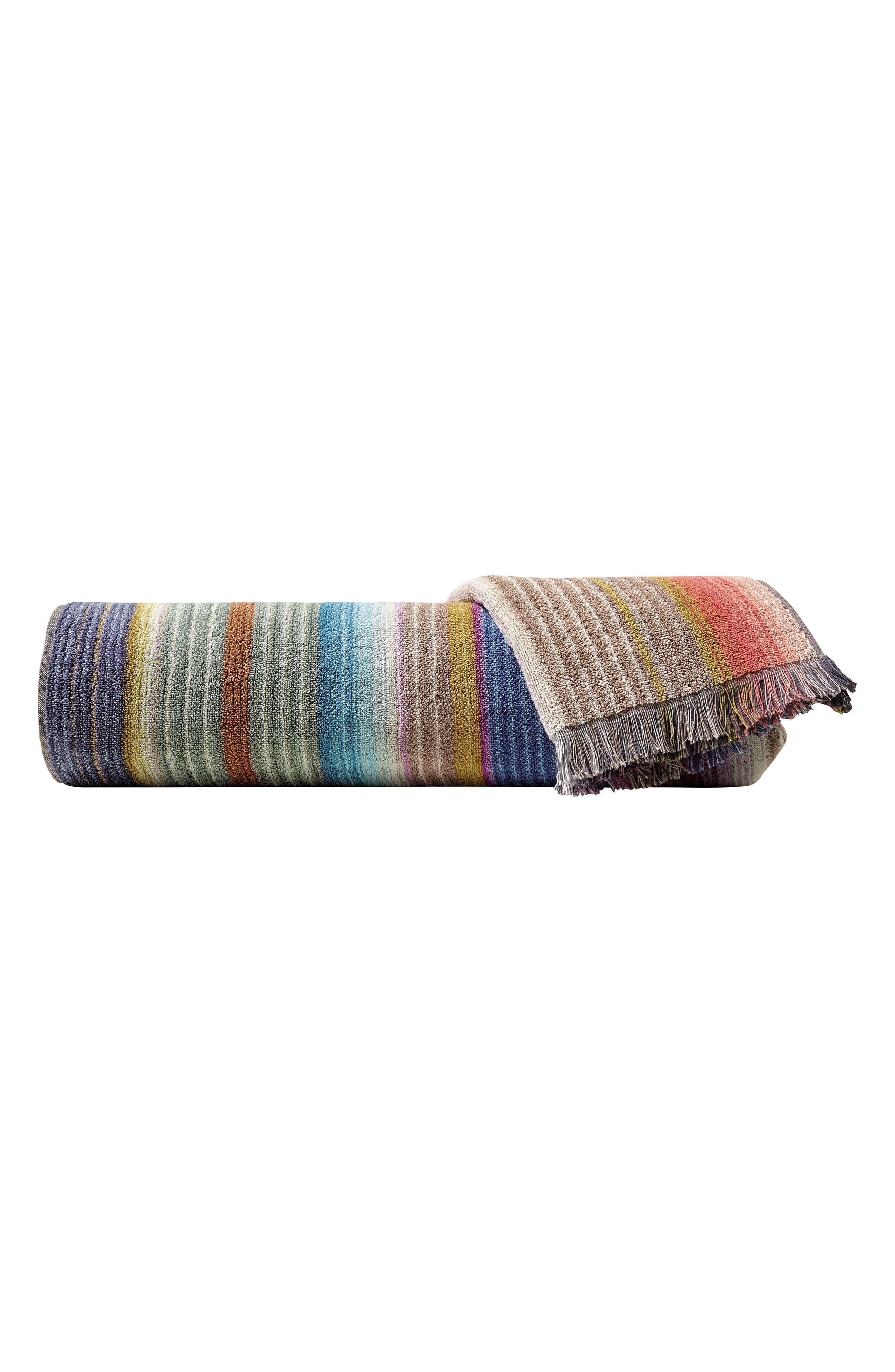 Viviette Hand Towel,                         Main,                         color, TAUPE MULTI