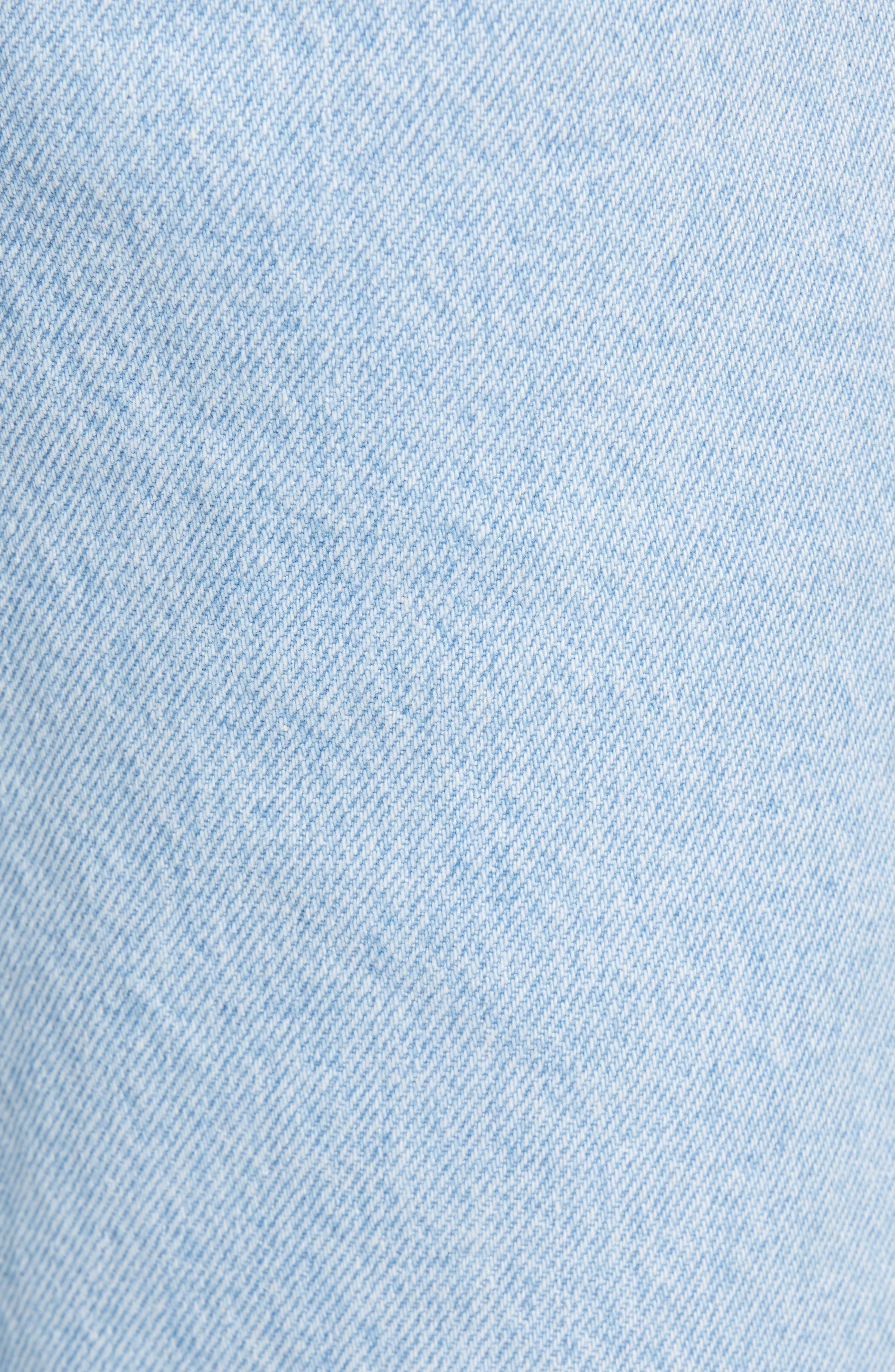 Crest Straight Leg Dad Jeans,                             Alternate thumbnail 5, color,                             LIGHT BLUE DENIM