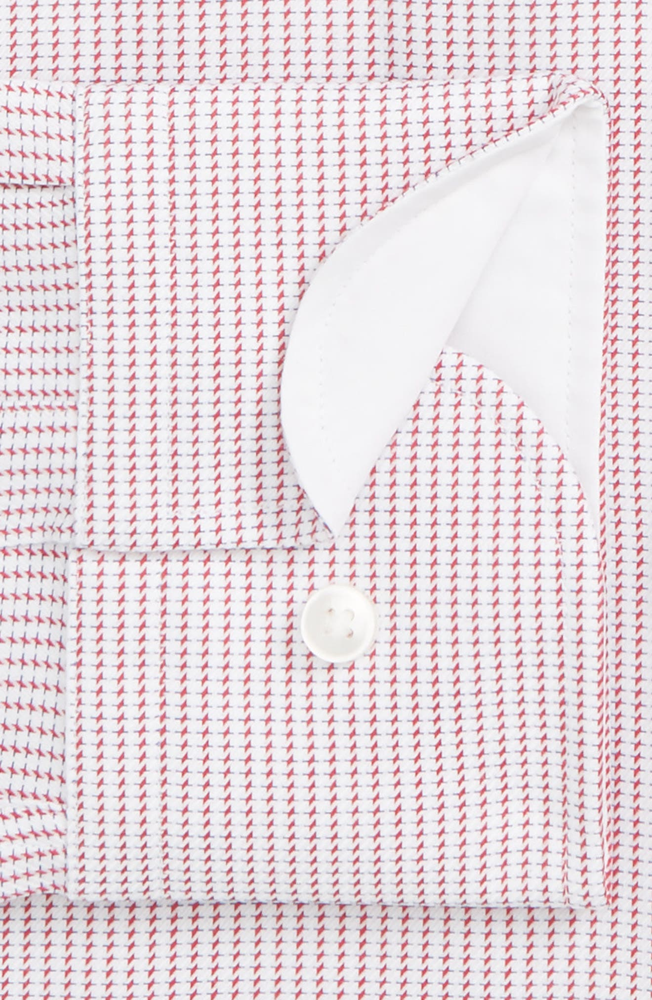 Jesse Slim Fit Print Dress Shirt,                             Alternate thumbnail 2, color,                             DARK PINK