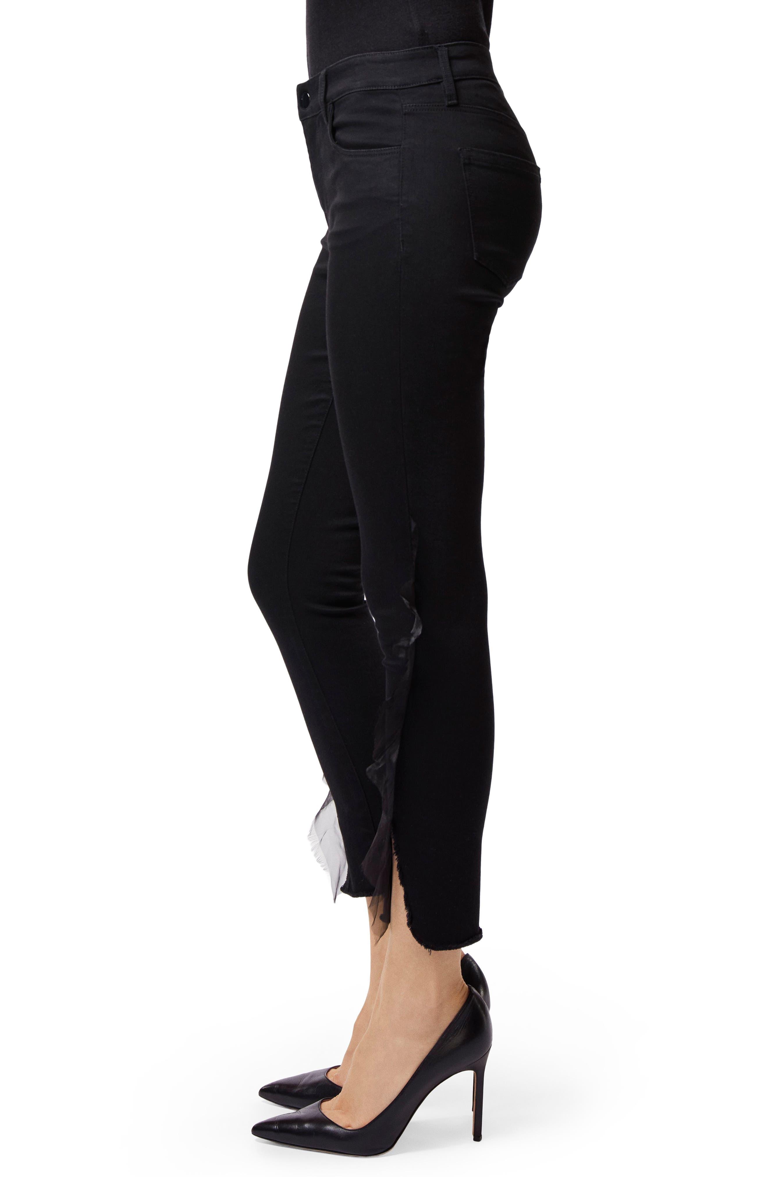 835 Split Hem Crop Skinny Jeans,                             Alternate thumbnail 3, color,                             008