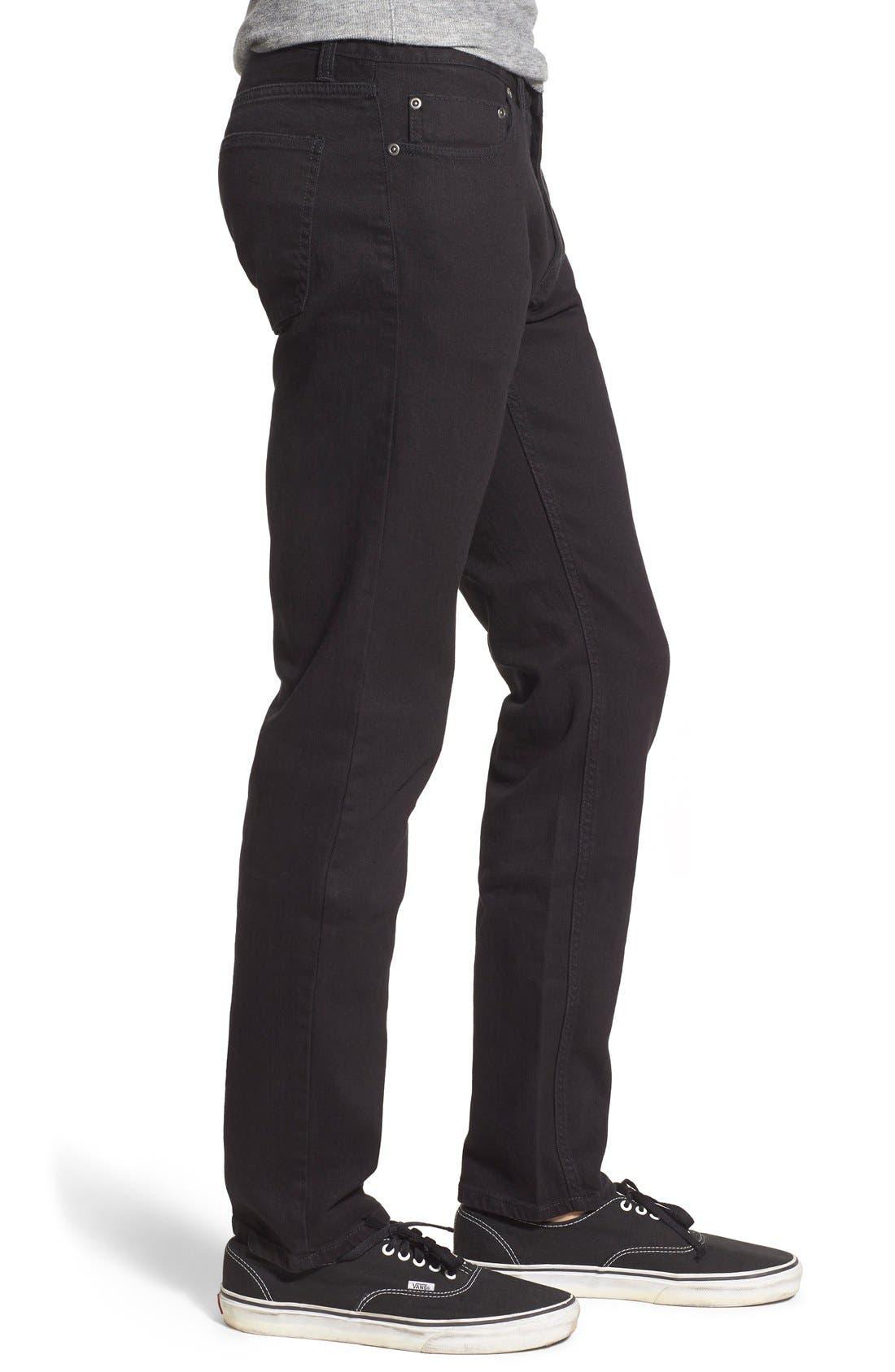 Skinny Fit Jeans,                             Alternate thumbnail 4, color,                             001