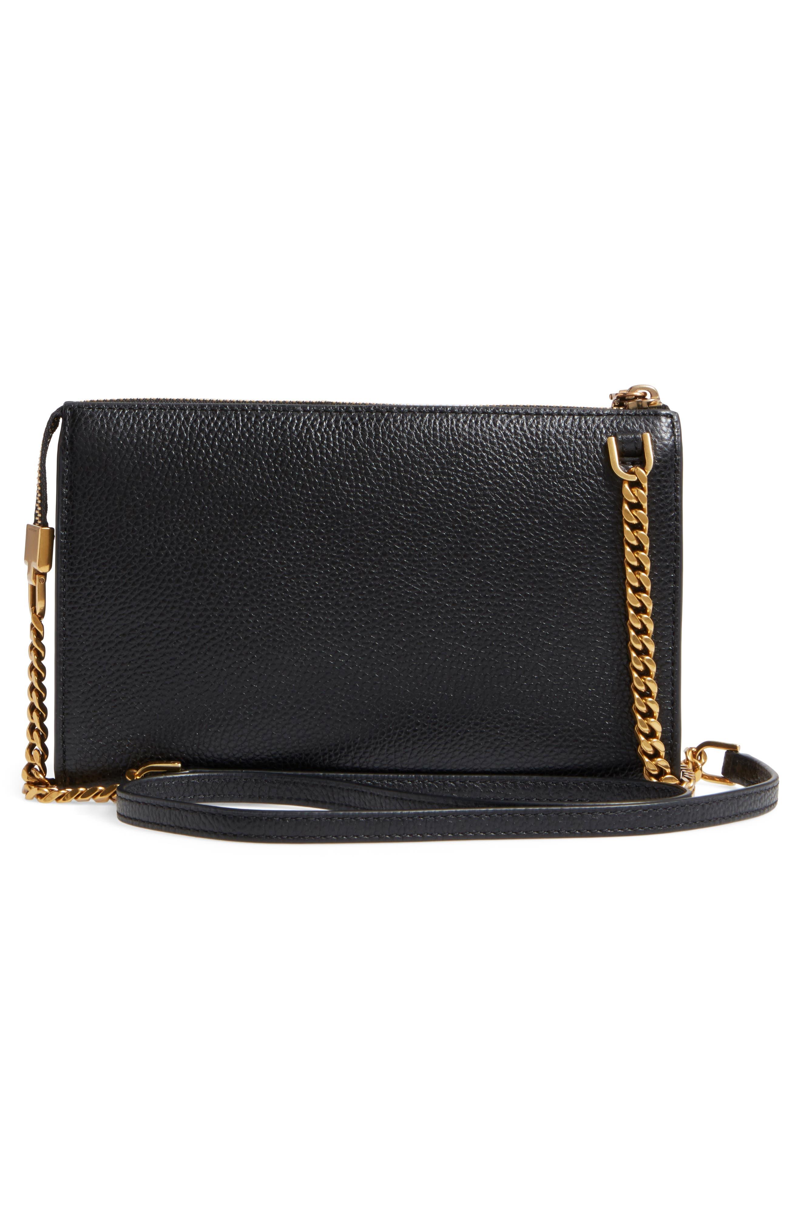 Small Recruit Leather Crossbody Bag,                             Alternate thumbnail 3, color,                             001