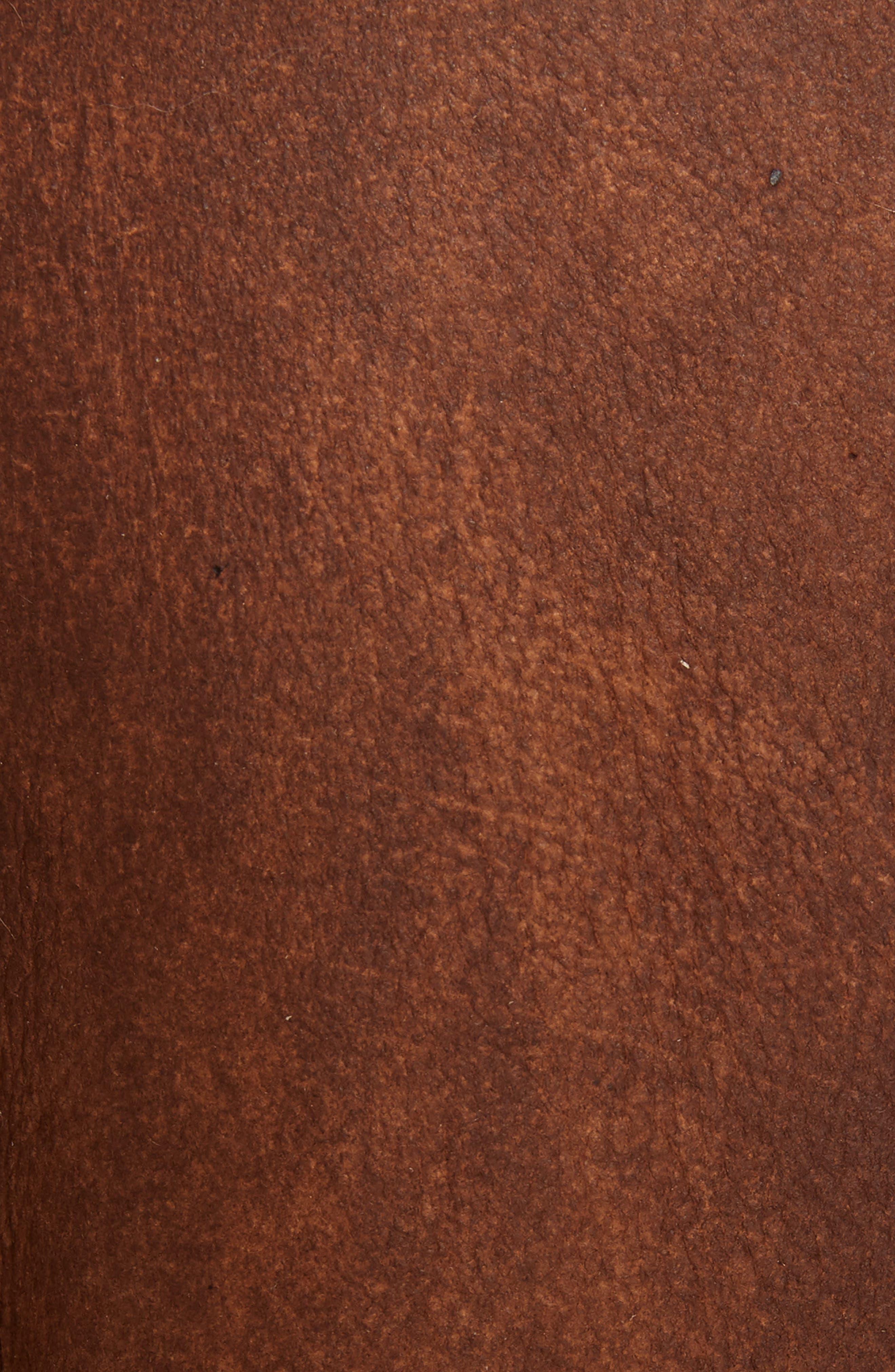 Genuine Shearling Aviator Jacket,                             Alternate thumbnail 6, color,                             BROWN