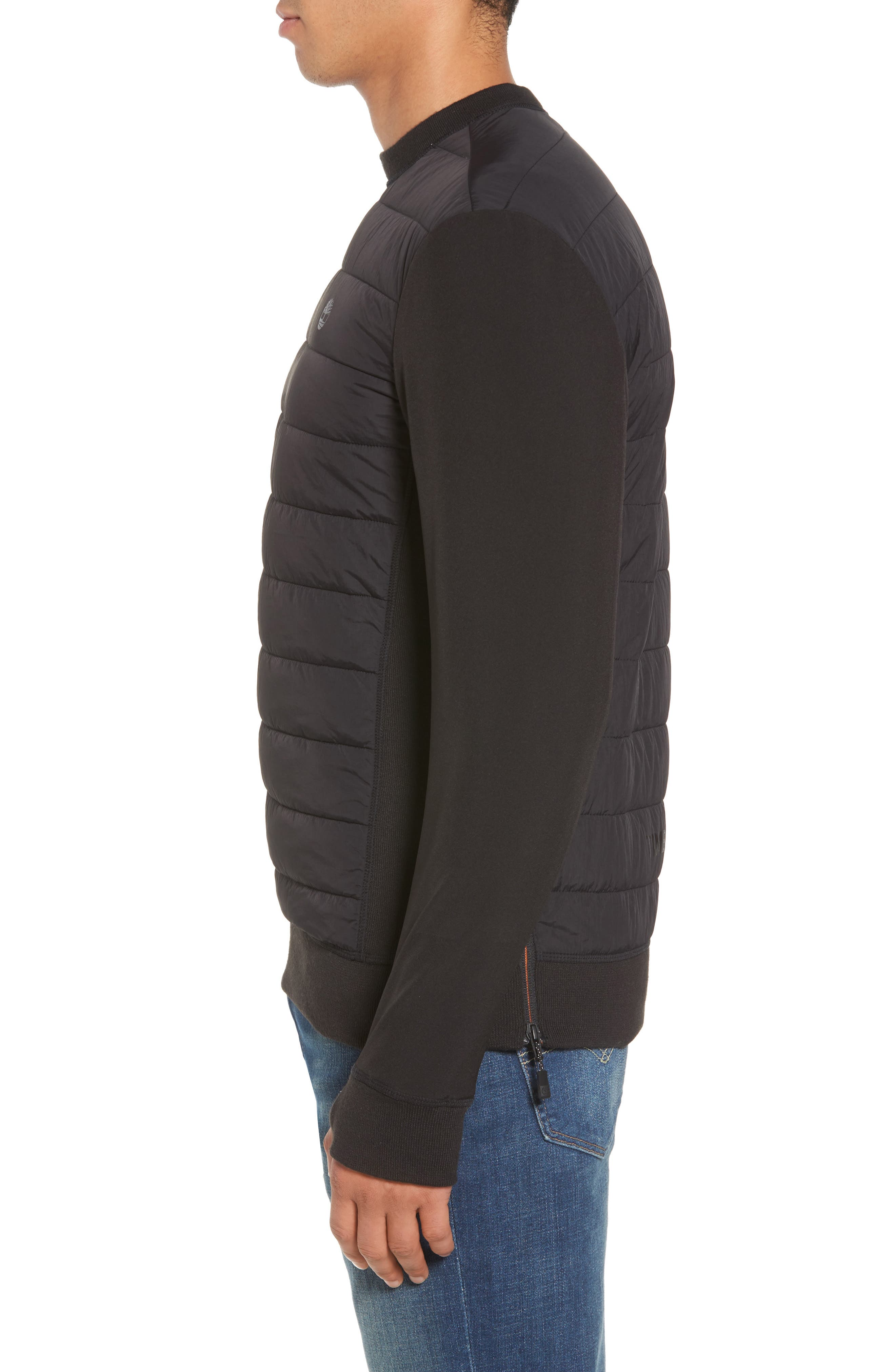 Quilted Pullover,                             Alternate thumbnail 3, color,                             001