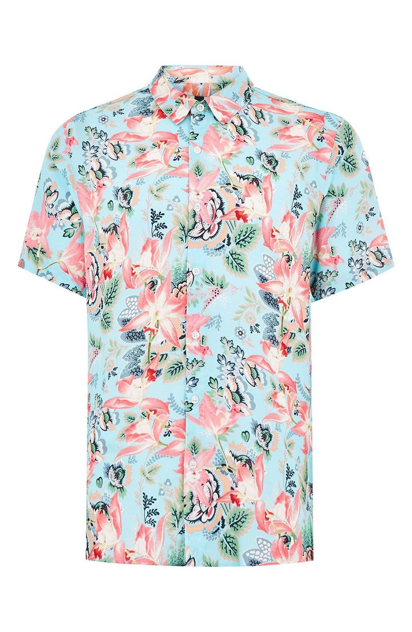 Floral Print Shirt,                             Alternate thumbnail 2, color,                             400
